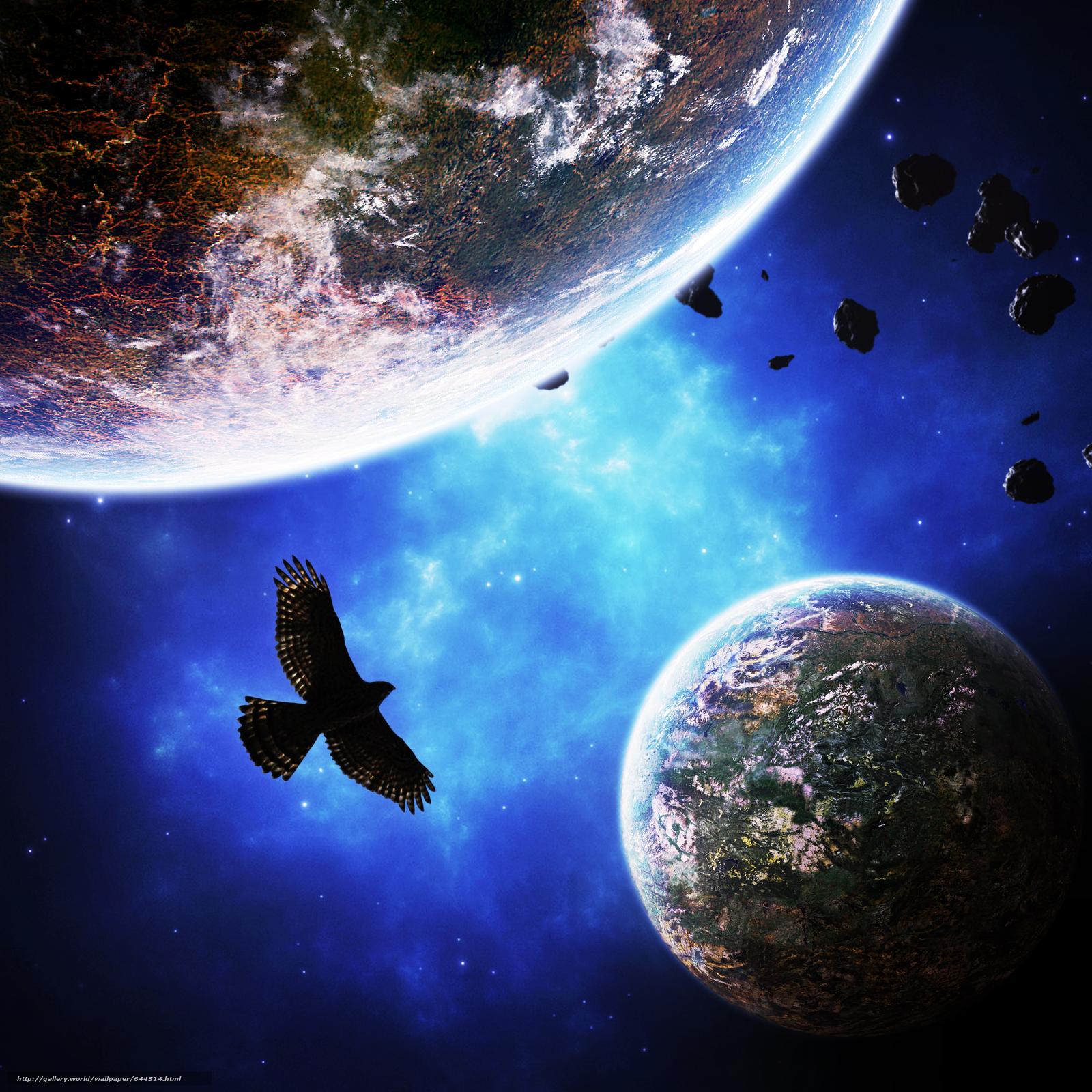 Скачать обои космос,  планеты,  3d,  art бесплатно для рабочего стола в разрешении 2500x2500 — картинка №644514