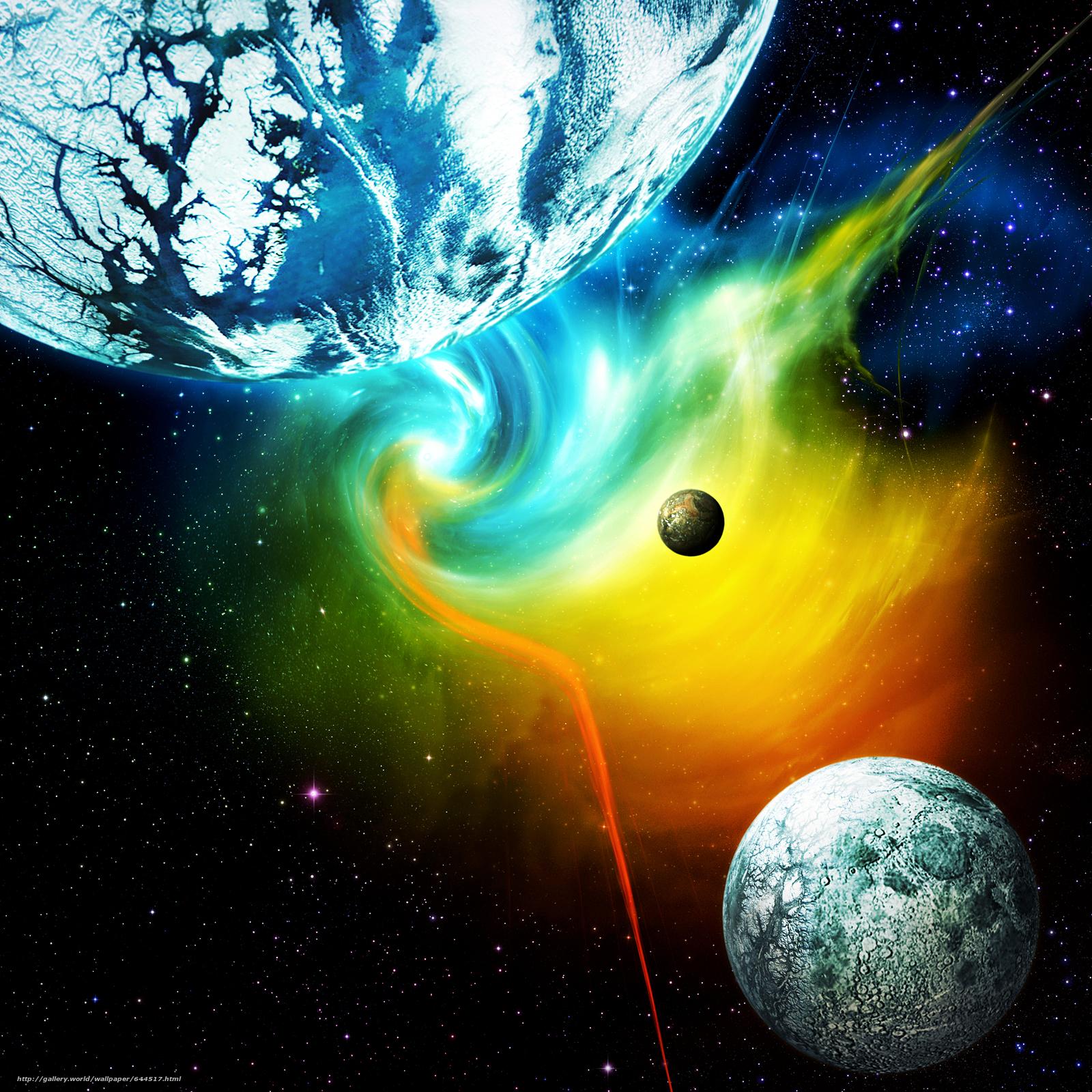 Descargar gratis espacio,  Planeta,  3d,  arte Fondos de escritorio en la resolucin 2500x2500 — imagen №644517