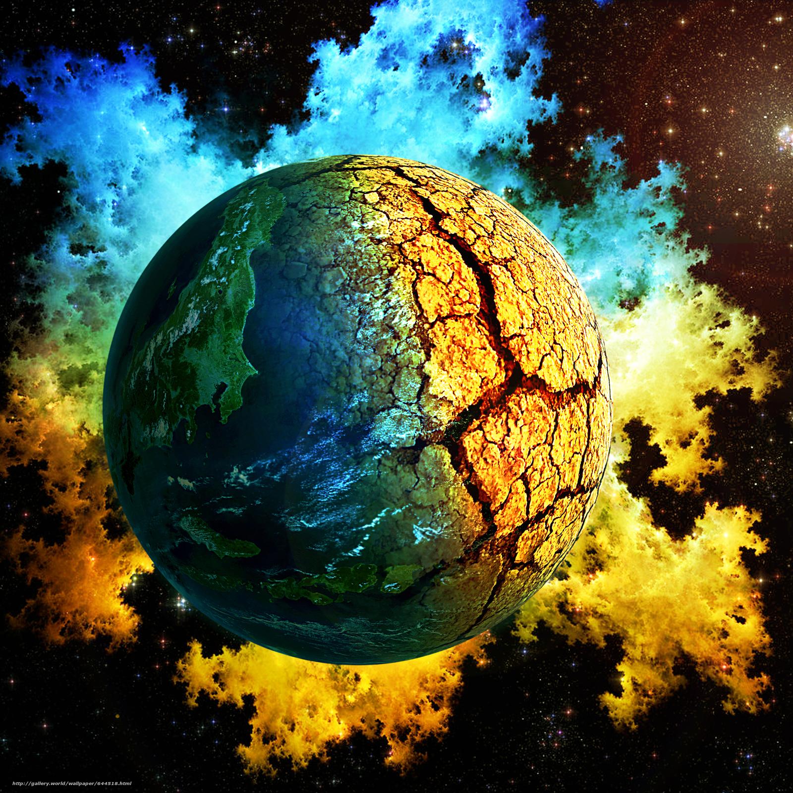 Descargar gratis espacio,  Planeta,  3d,  arte Fondos de escritorio en la resolucin 2500x2500 — imagen №644518