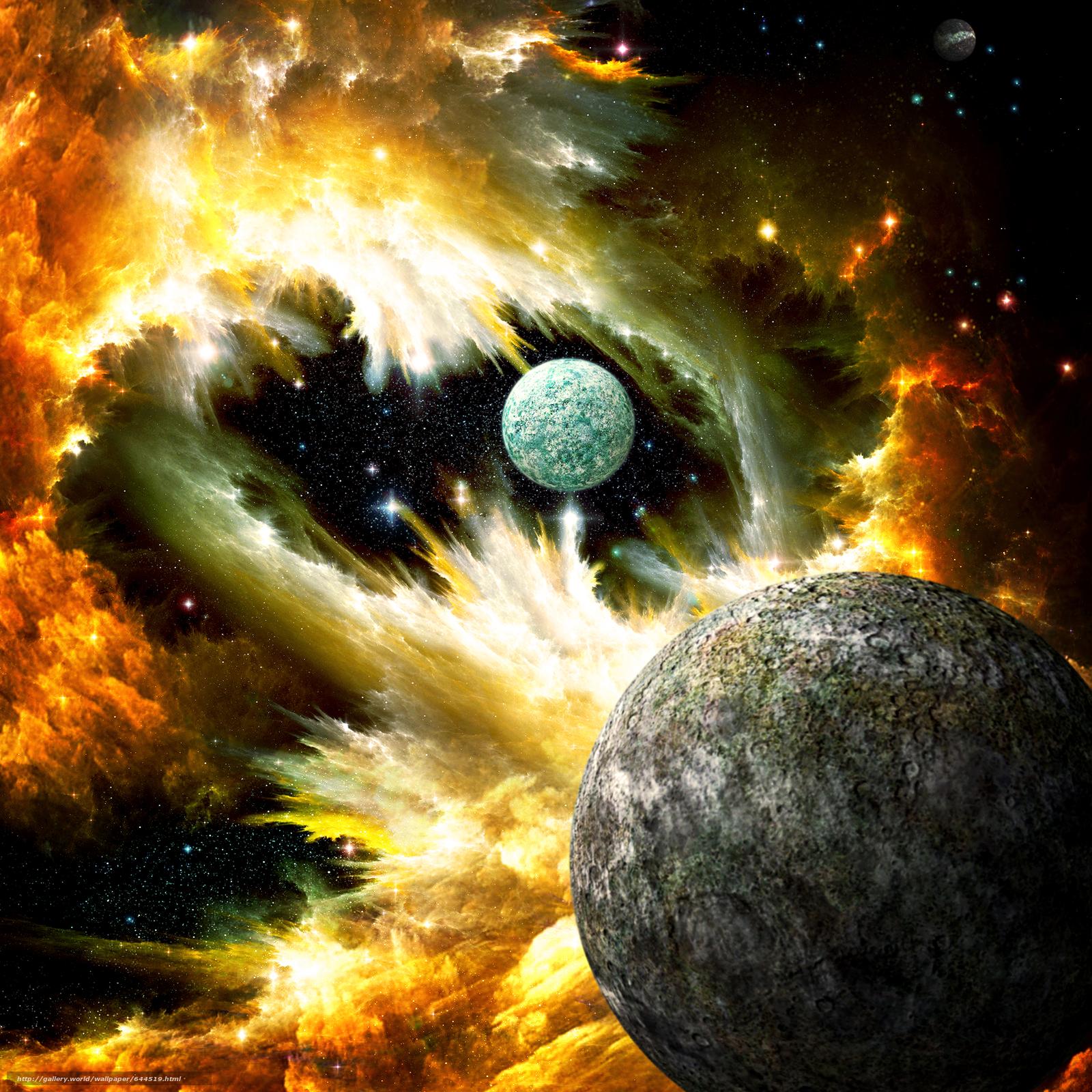 Descargar gratis espacio,  Planeta,  3d,  arte Fondos de escritorio en la resolucin 2500x2500 — imagen №644519