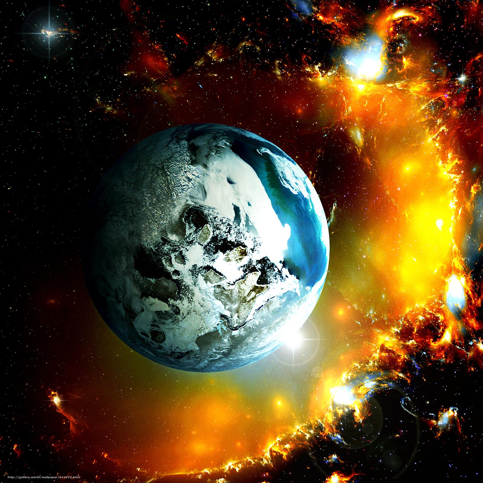 Descargar gratis espacio,  Planeta,  3d,  arte Fondos de escritorio en la resolucin 2500x2500 — imagen №644522