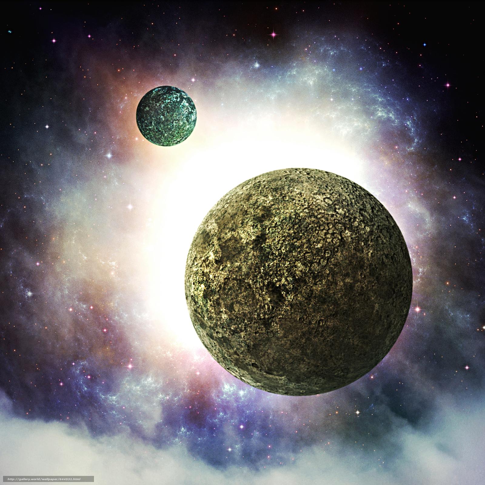 Descargar gratis espacio,  Planeta,  3d,  arte Fondos de escritorio en la resolucin 2500x2500 — imagen №644531
