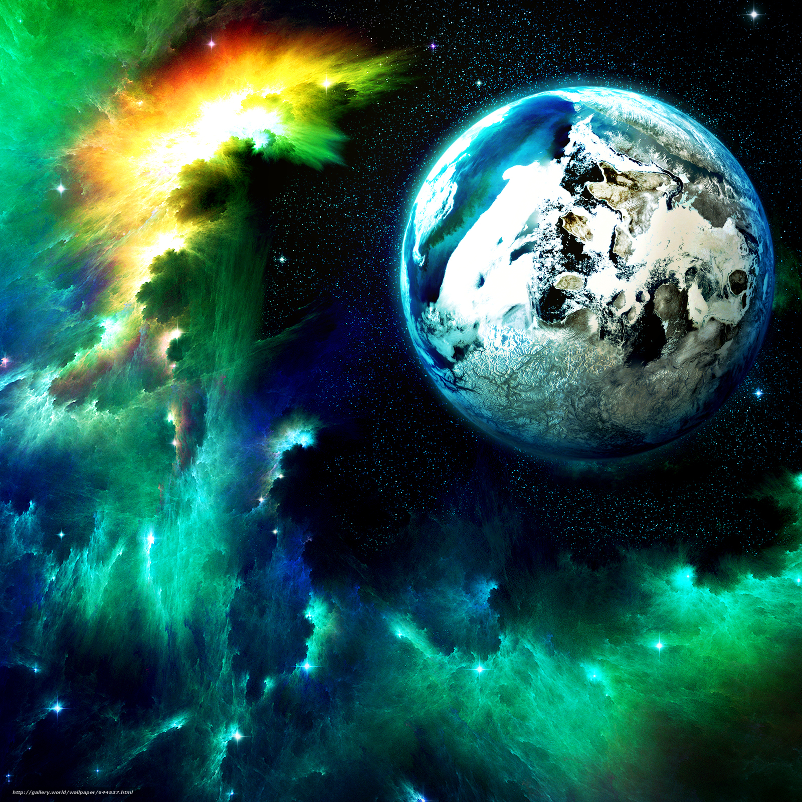 Descargar gratis espacio,  Planeta,  3d,  arte Fondos de escritorio en la resolucin 2500x2500 — imagen №644537