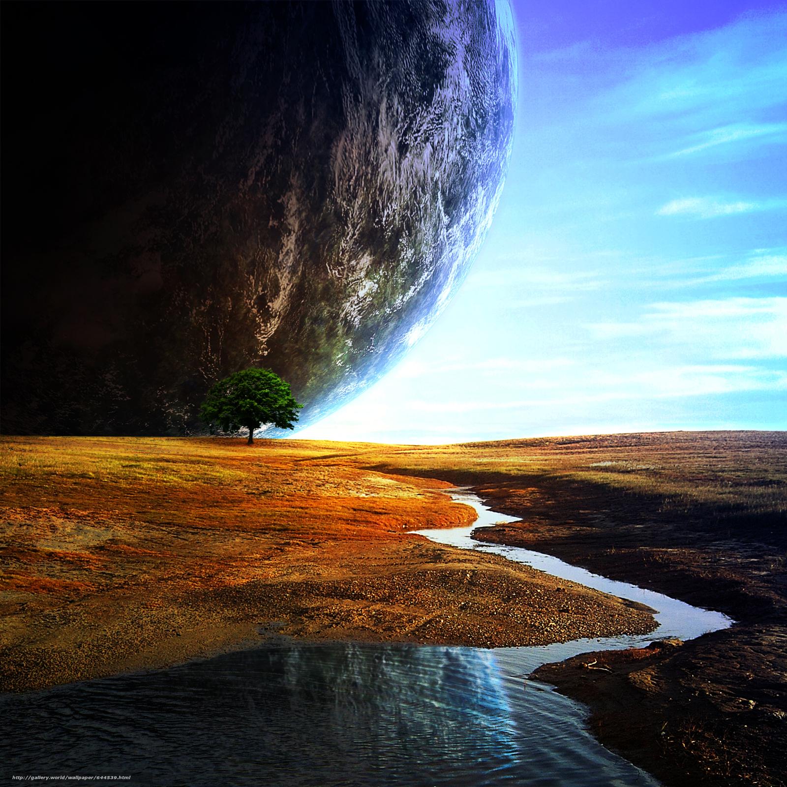 Descargar gratis espacio,  Planeta,  3d,  arte Fondos de escritorio en la resolucin 2500x2500 — imagen №644539