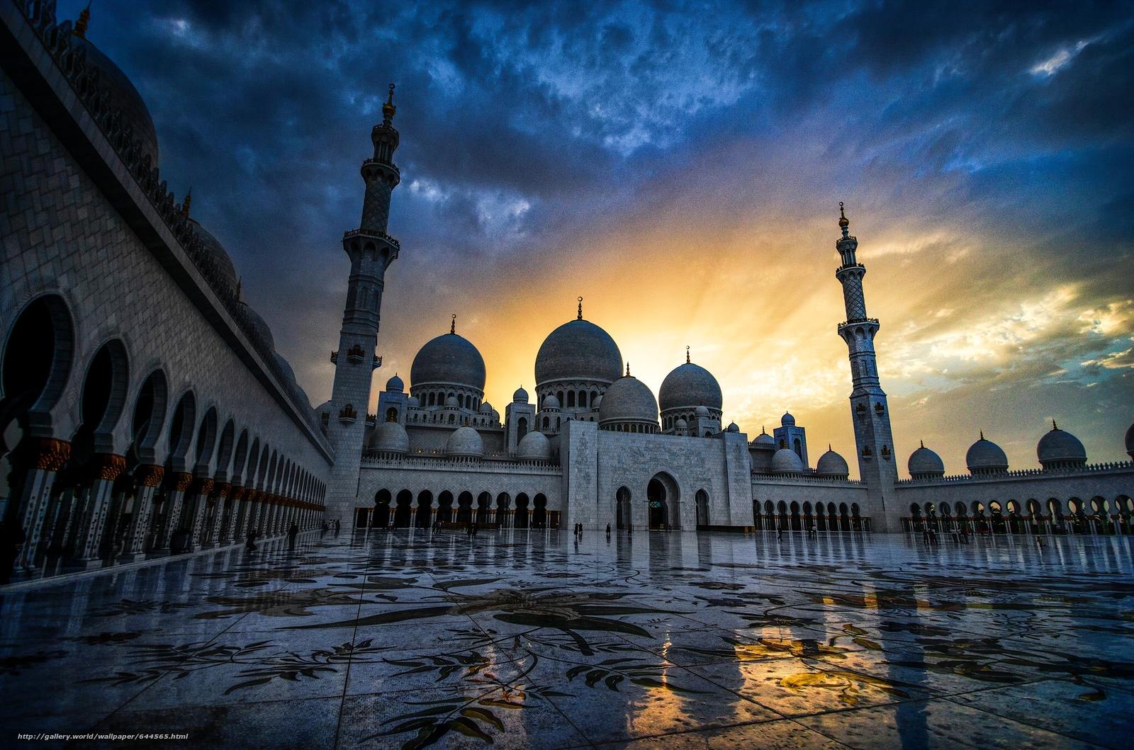 Tlcharger Fond d'ecran Grande Mosquée Sheikh Zayed,  Abu Dhabi,  Émirats arabes unis,  Mosquée Sheikh Zayed Fonds d'ecran gratuits pour votre rsolution du bureau 2048x1356 — image №644565