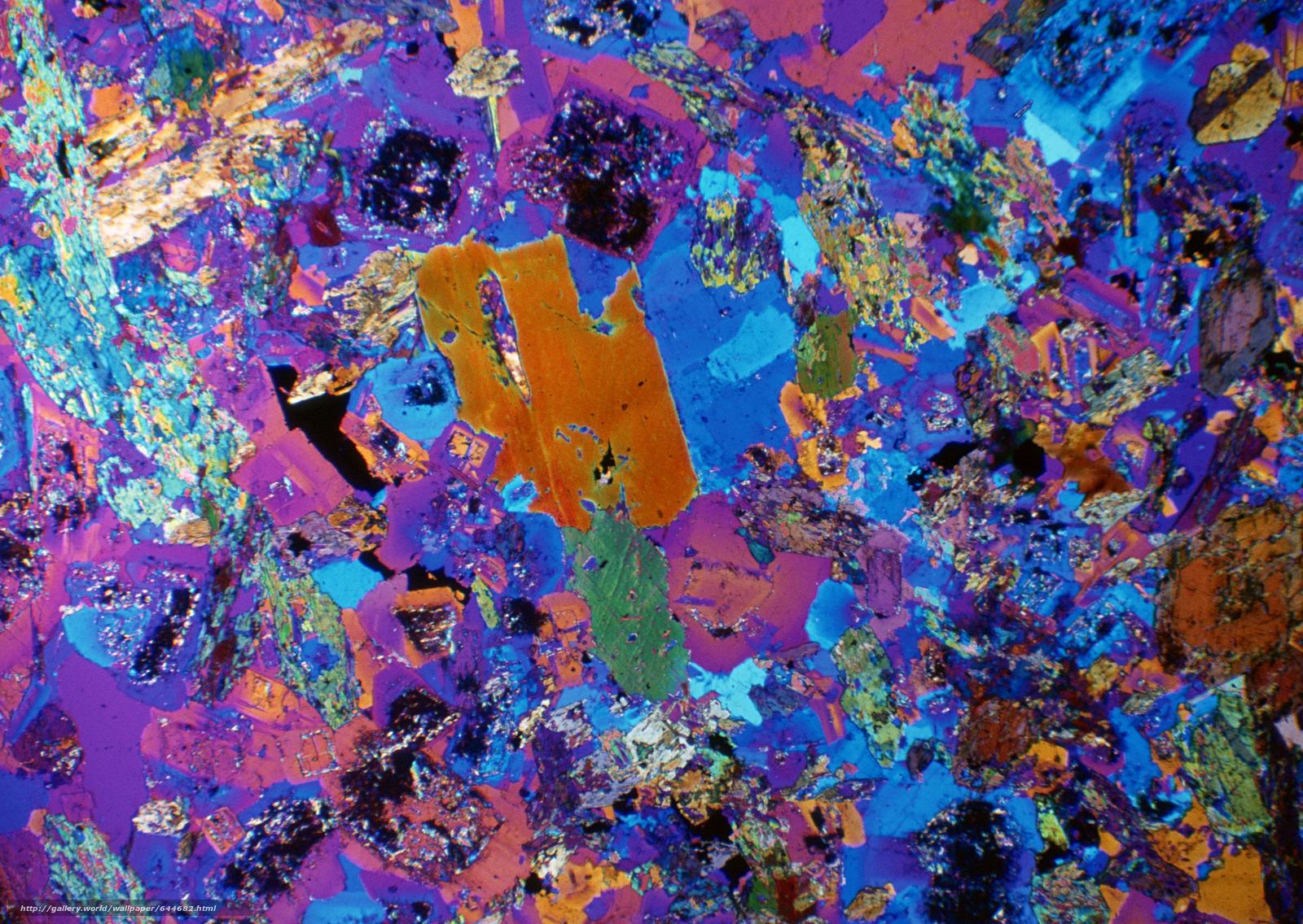 Скачать обои кристаллы под микроскопом,  кристалл,  микроскоп,  увеличение бесплатно для рабочего стола в разрешении 2950x2094 — картинка №644682