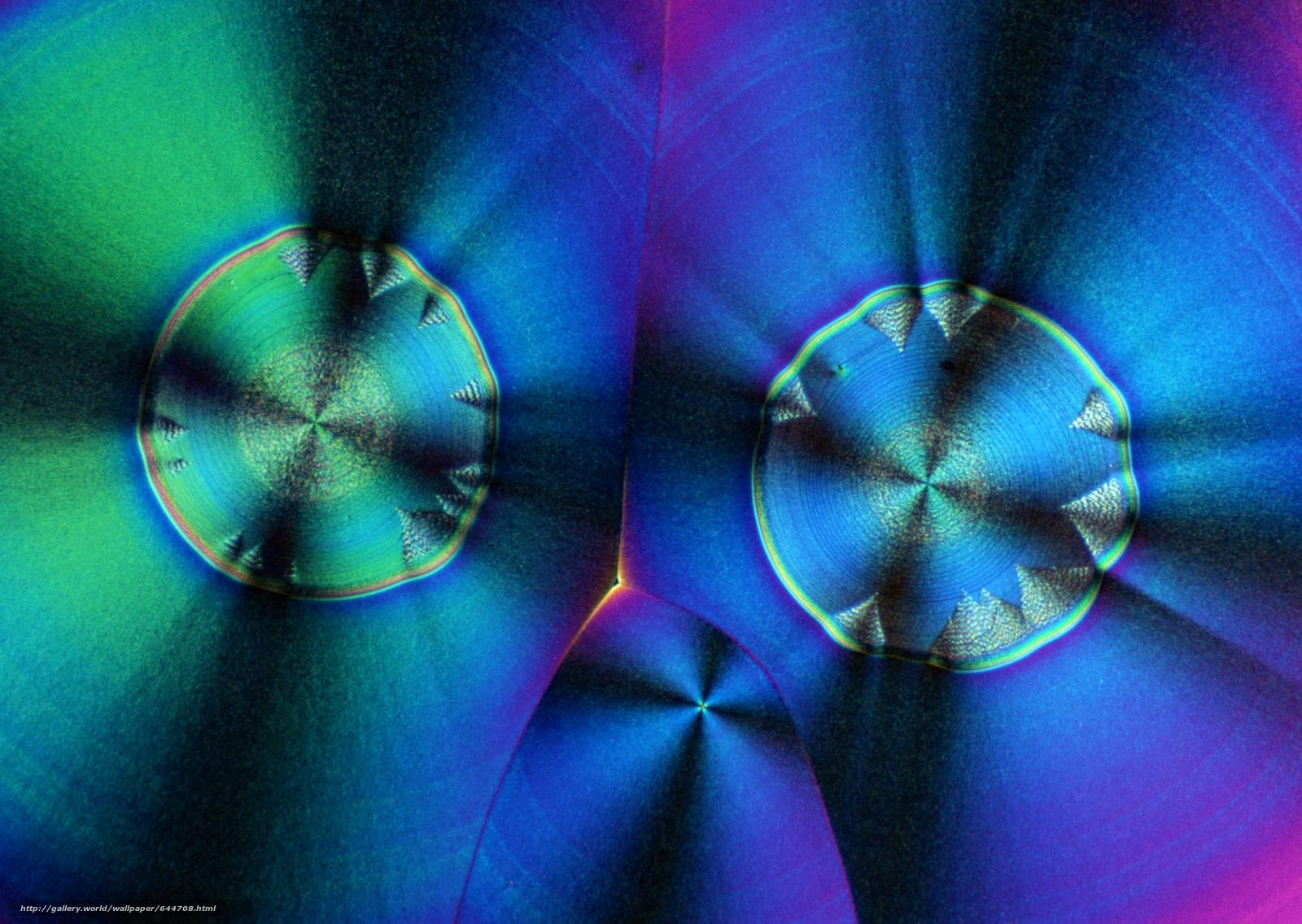Скачать обои кристаллы под микроскопом,  кристалл,  микроскоп,  увеличение бесплатно для рабочего стола в разрешении 2950x2094 — картинка №644708