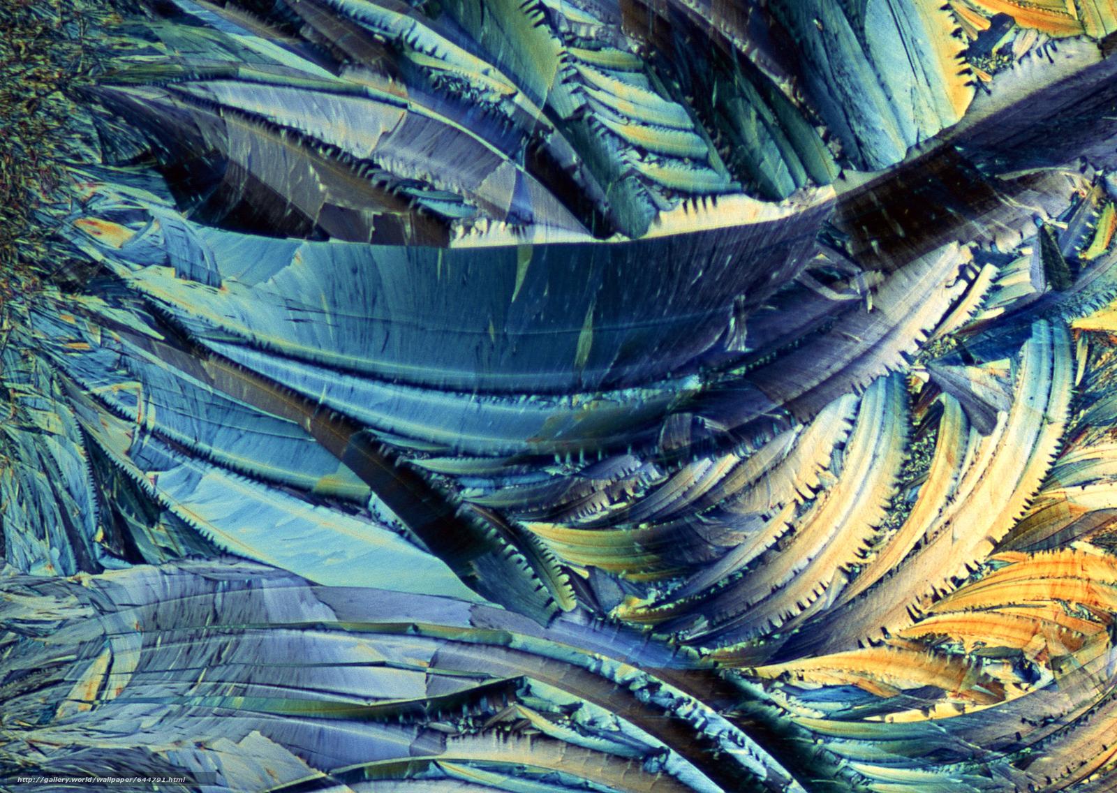 Скачать обои кристаллы под микроскопом,  кристалл,  микроскоп,  увеличение бесплатно для рабочего стола в разрешении 2950x2094 — картинка №644791