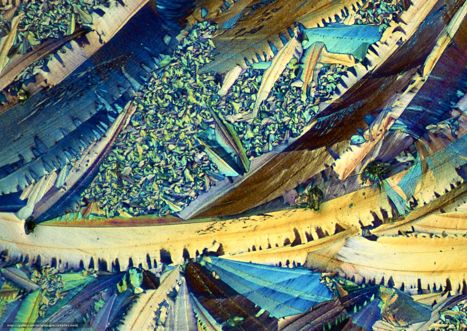 Скачать обои кристаллы под микроскопом,  кристалл,  микроскоп,  увеличение бесплатно для рабочего стола в разрешении 2950x2094 — картинка №644792