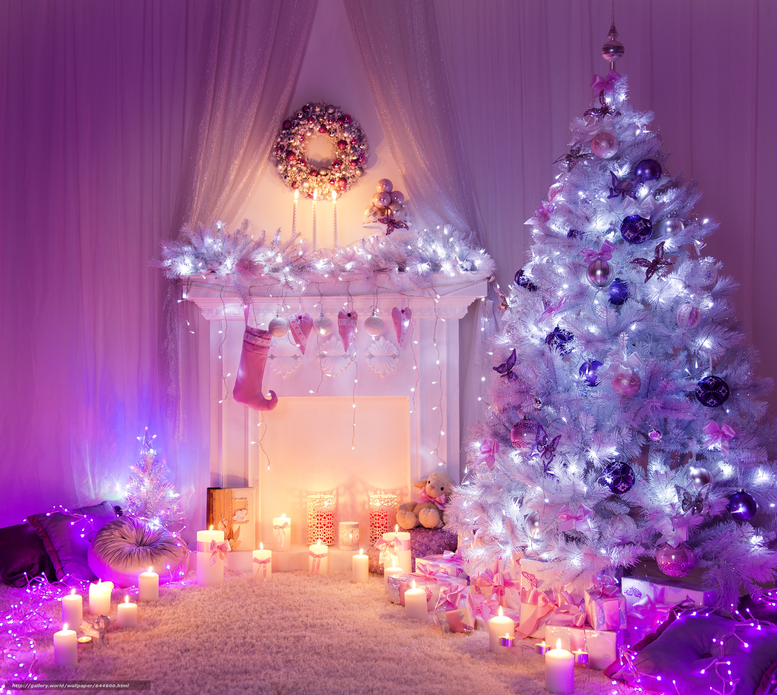 Download wallpaper New Year,  Christmas tree,  Candles,  New Interior free desktop wallpaper in the resolution 4207x3765 — picture №644800