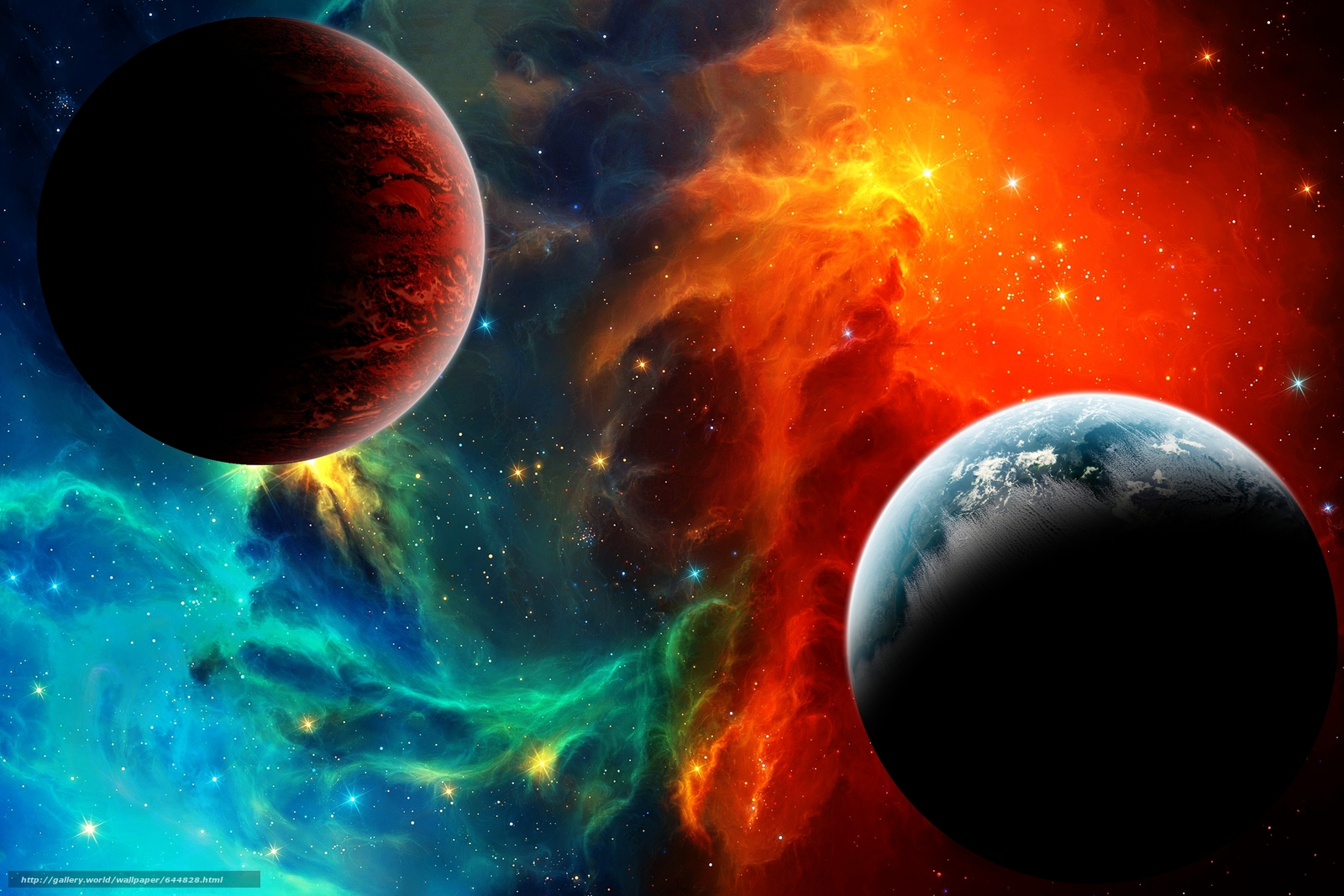 3d wallpaper colorful planets - photo #5