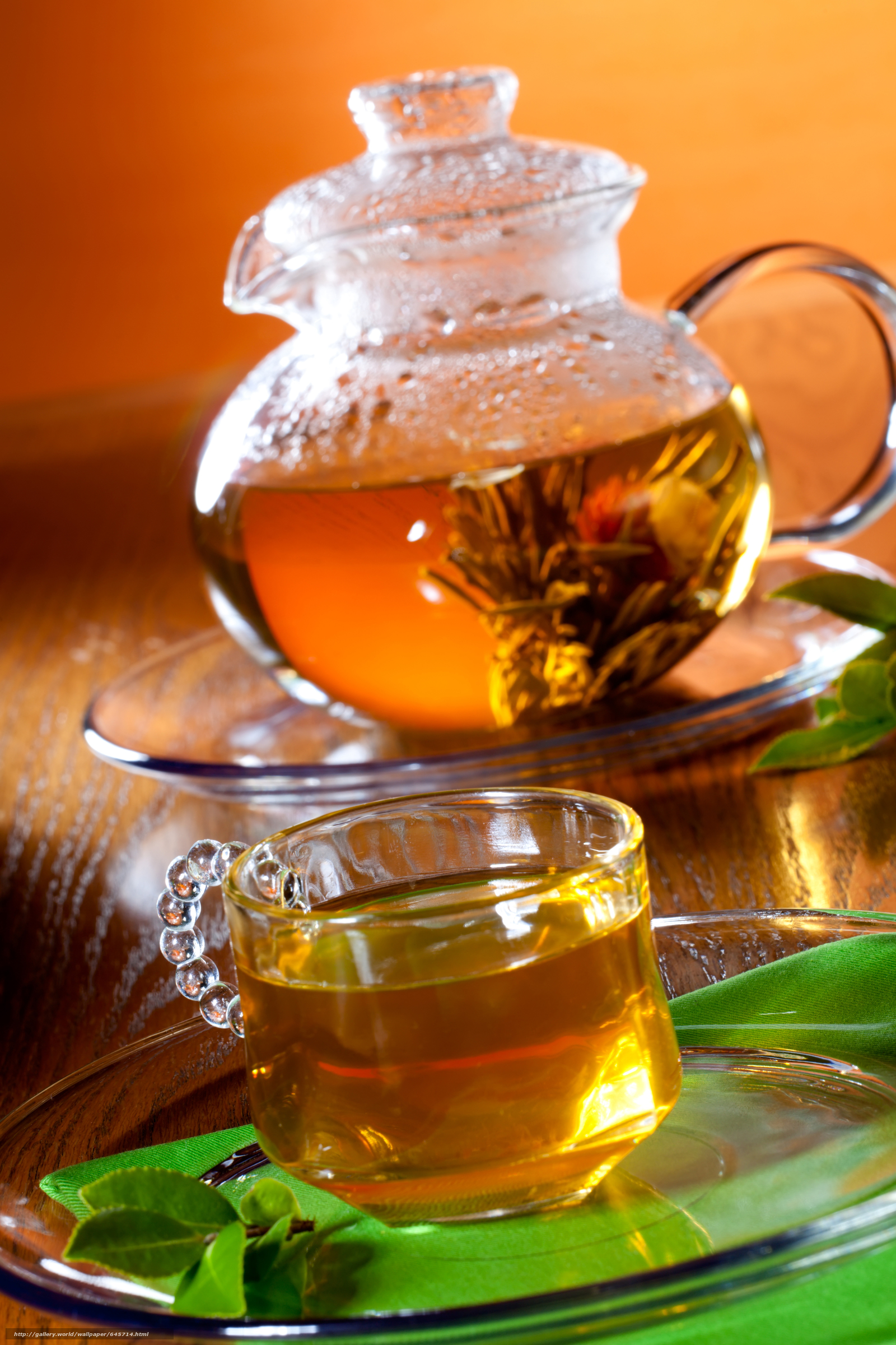 Скачать обои зелёный чай,  чайник,  посуда бесплатно для рабочего стола в разрешении 3744x5616 — картинка №645714