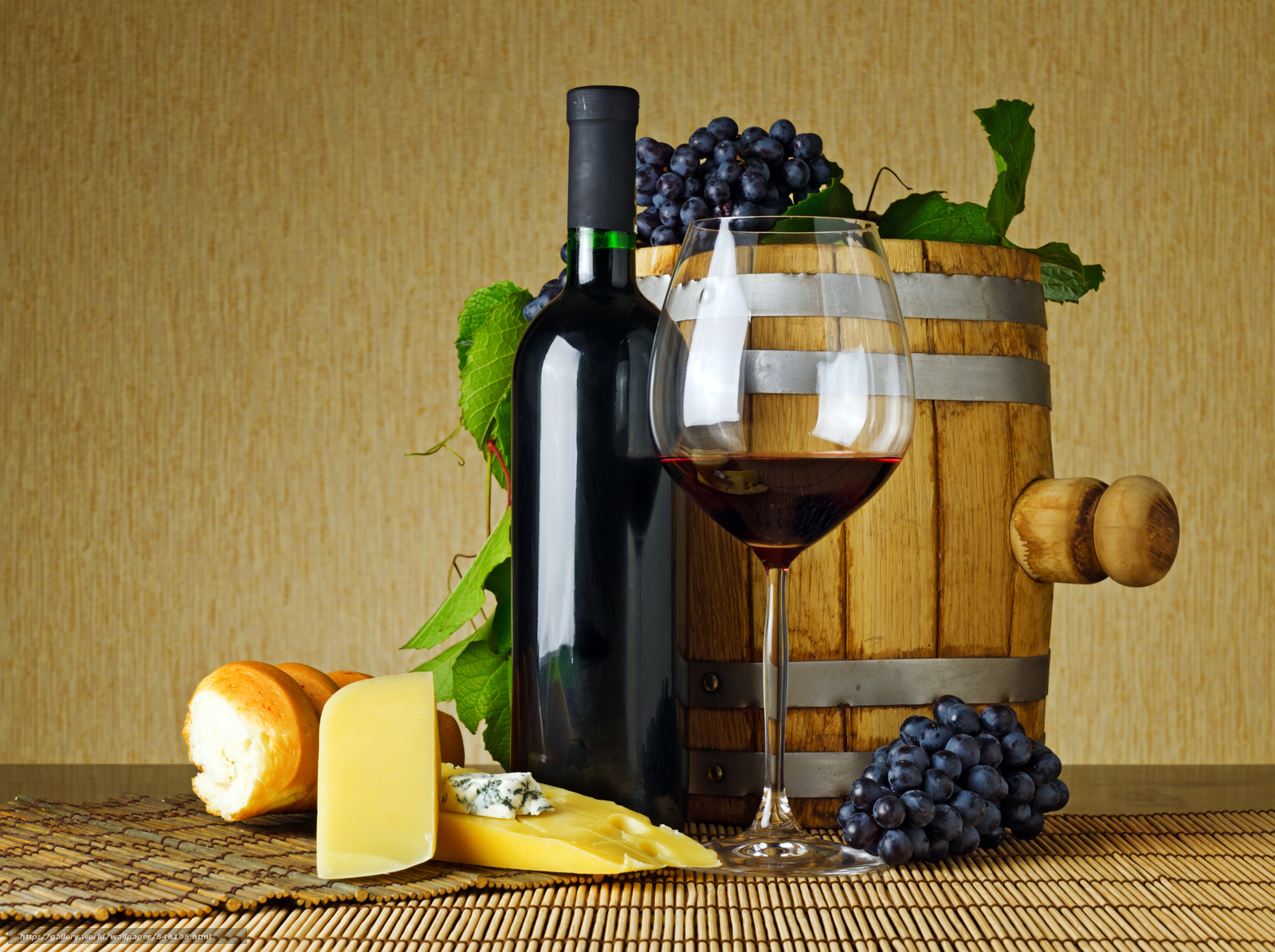 Download wallpaper table,  wine,  grapes,  Bakaly free desktop wallpaper in the resolution 4349x3246 — picture №646195