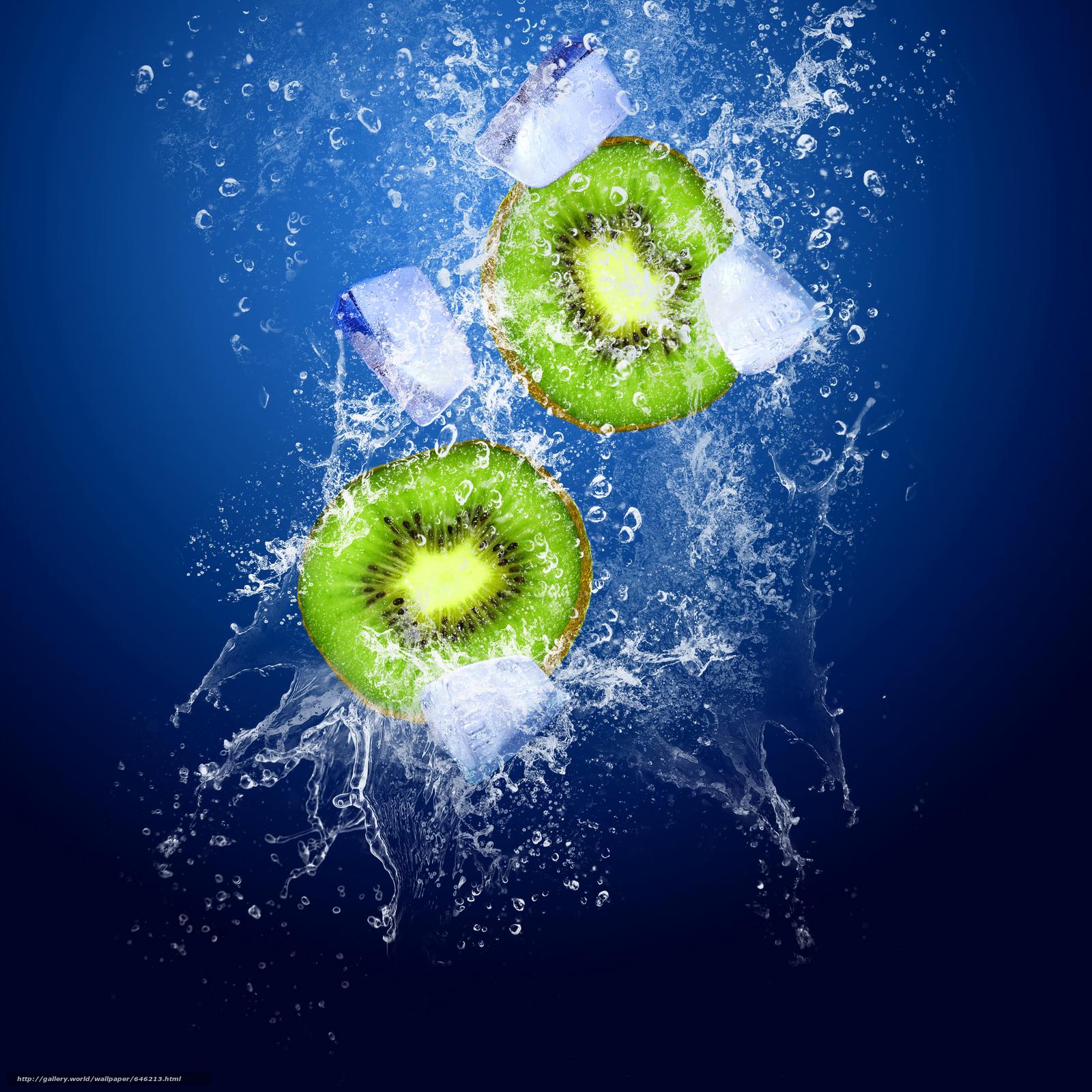 Download wallpaper kiwi,  ice,  spray free desktop wallpaper in the resolution 5500x5500 — picture №646213