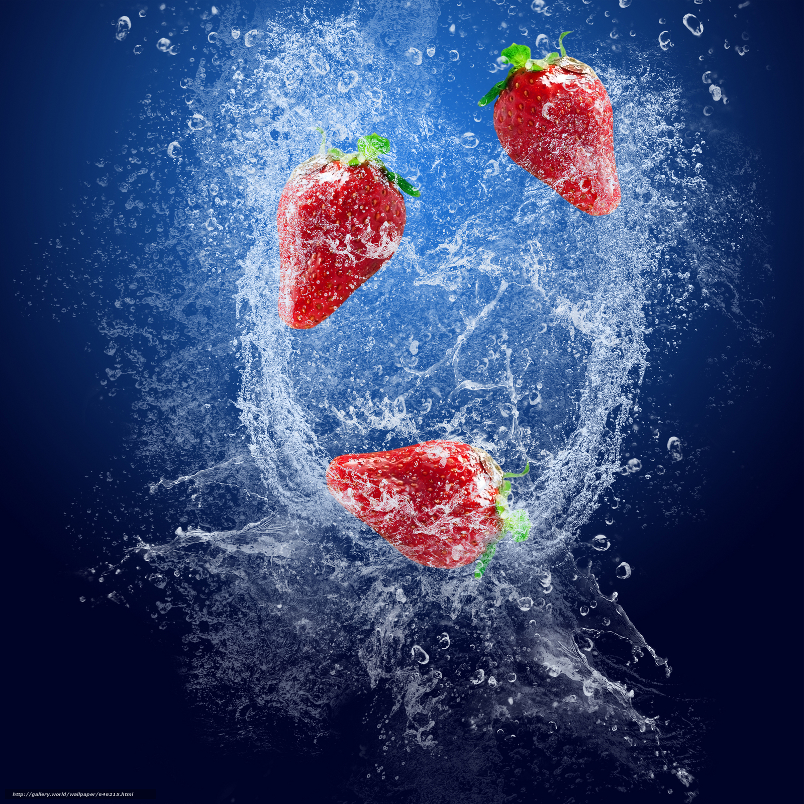 Download wallpaper strawberries,  berry,  spray free desktop wallpaper in the resolution 5000x5000 — picture №646215