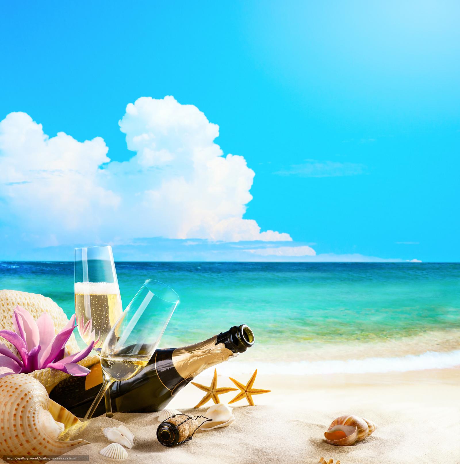 scaricare gli sfondi mare,  puntellare,  Champagne,  Calici Sfondi gratis per la risoluzione del desktop 7560x7636 — immagine №646528
