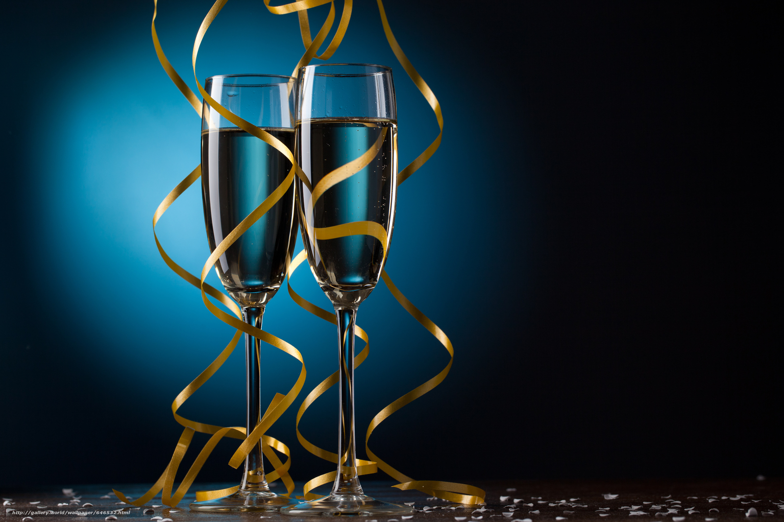 Download wallpaper stemware,  Tape,  Champagne free desktop wallpaper in the resolution 5299x3532 — picture №646532
