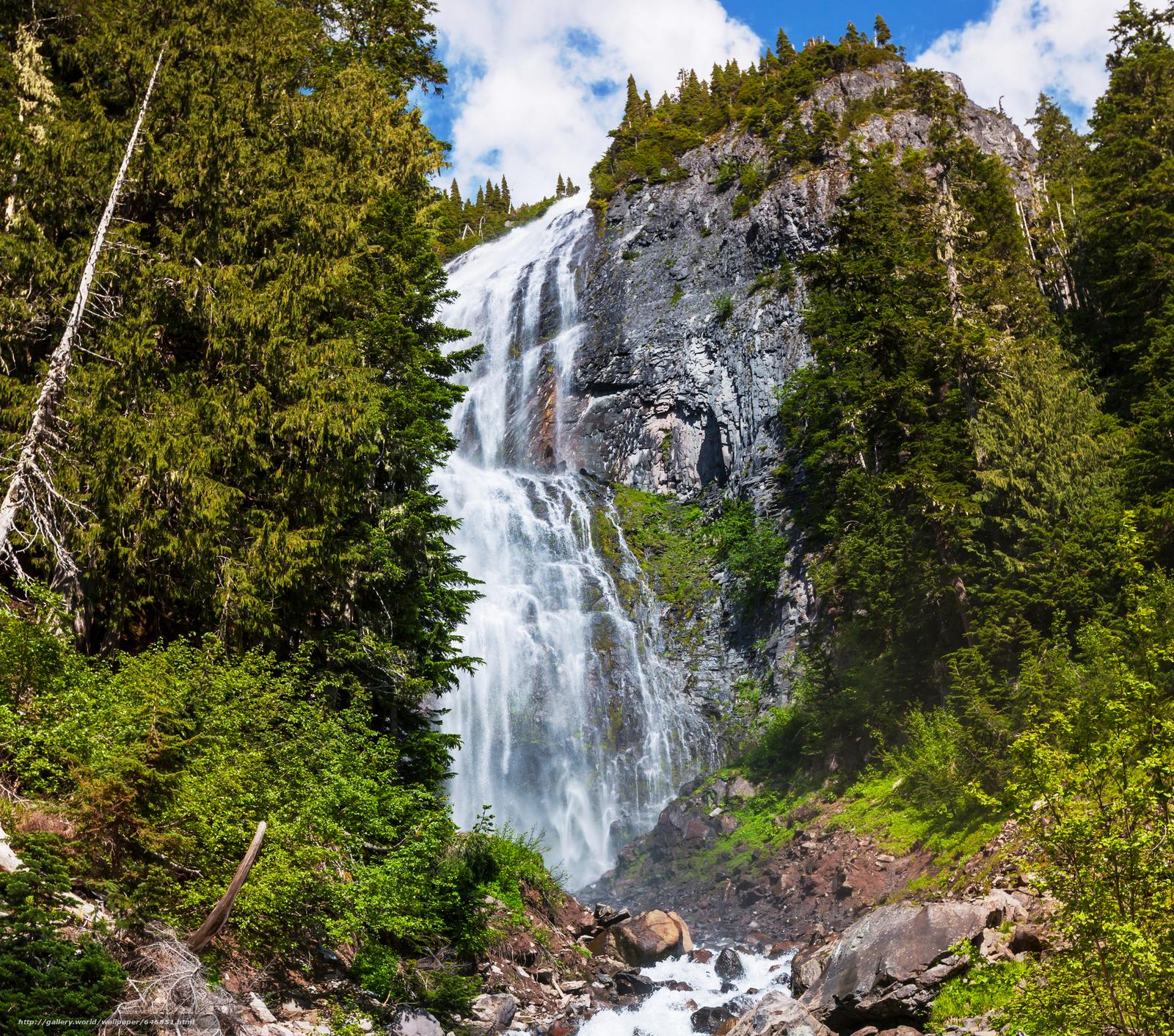Download wallpaper waterfall,  waterfalls,  nature,  landscape free desktop wallpaper in the resolution 4400x3882 — picture №646851