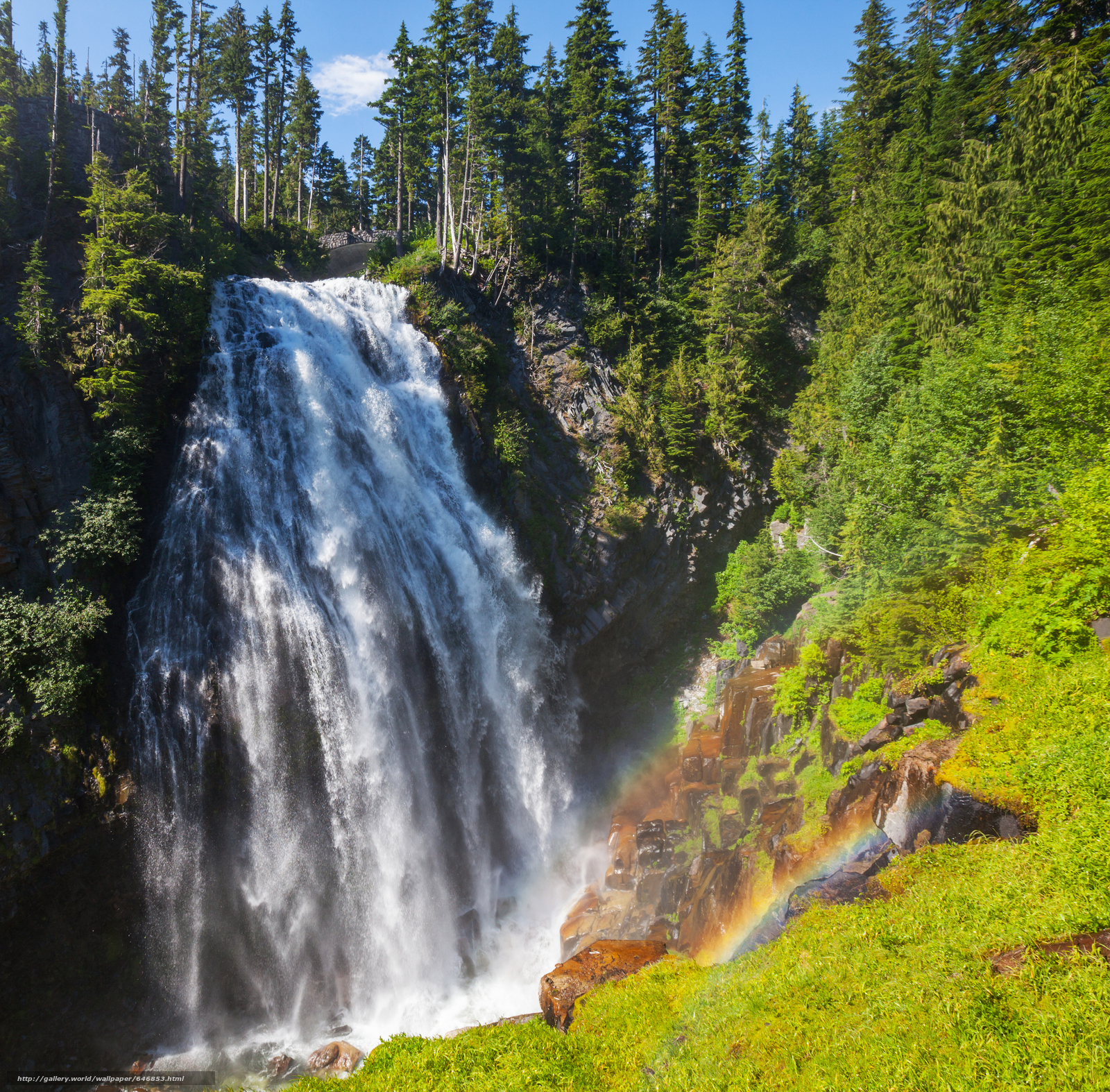 Download wallpaper waterfall,  waterfalls,  nature,  landscape free desktop wallpaper in the resolution 4400x4328 — picture №646853