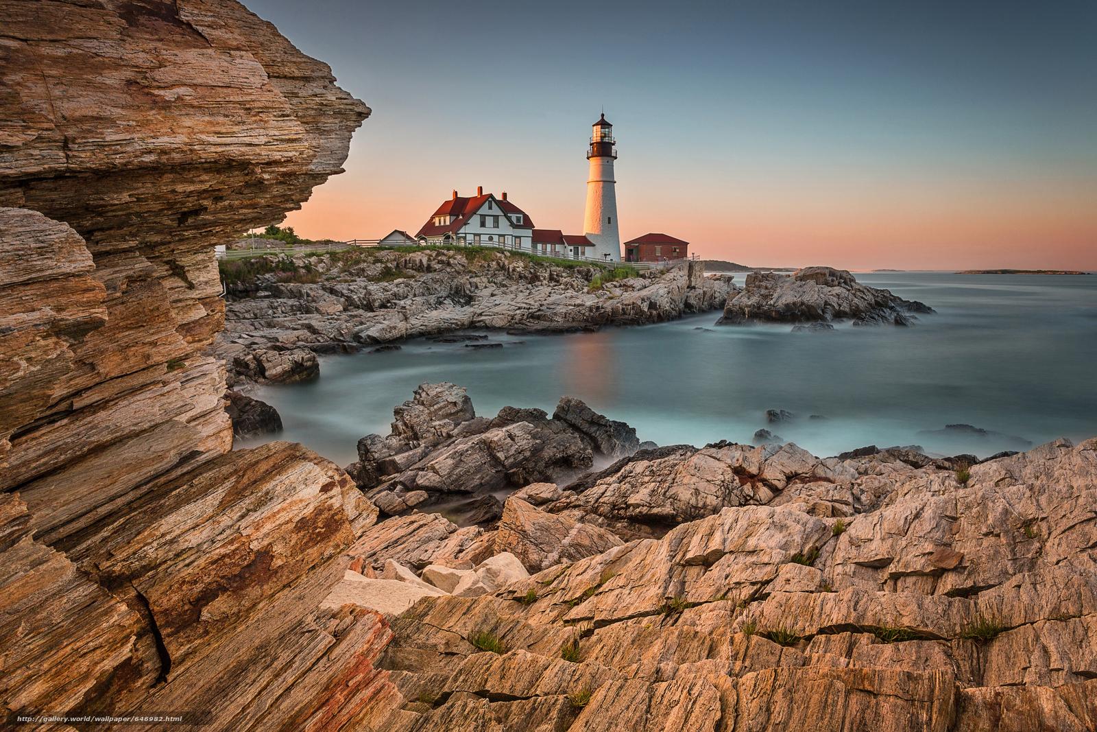 Descargar gratis Portland Head Light,  Cape Elizabeth,  Maine,  faro Fondos de escritorio en la resolucin 2048x1366 — imagen №646982