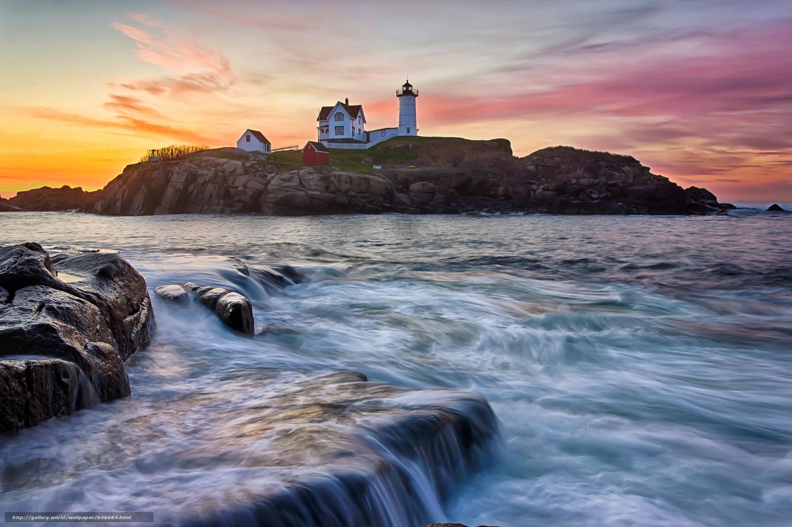 Скачать обои Portland Head Light,  Cape Elizabeth,  Maine,  маяк бесплатно для рабочего стола в разрешении 2048x1365 — картинка №646984
