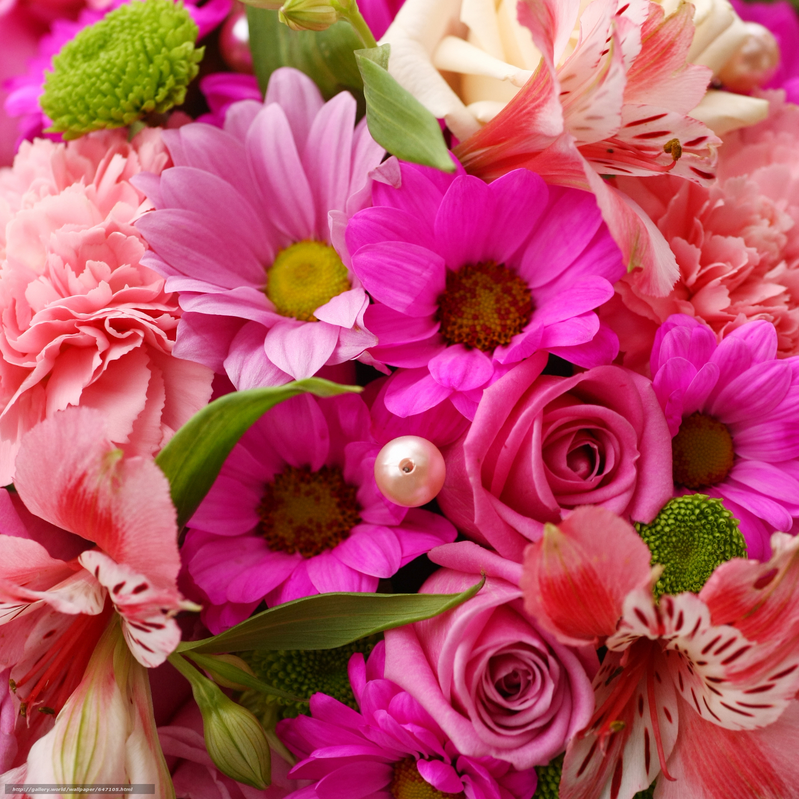 Download wallpaper flowers bouquet flora free desktop for A lot of different flowers make a bouquet