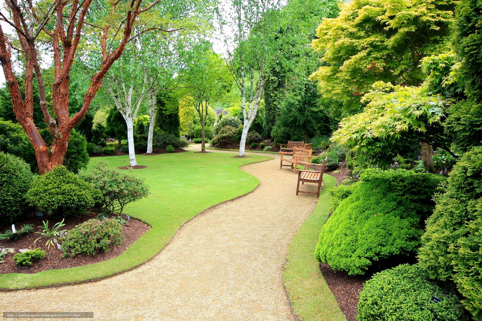 Download Wallpaper Garden, Trees, Track, Shops Free Desktop Wallpaper In  The Resolution 4272x2848 U2014 Picture №647127