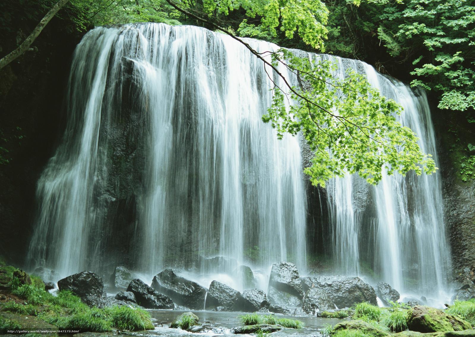 Download wallpaper waterfall,  waterfalls,  water,  FLOW free desktop wallpaper in the resolution 2950x2094 — picture №647173