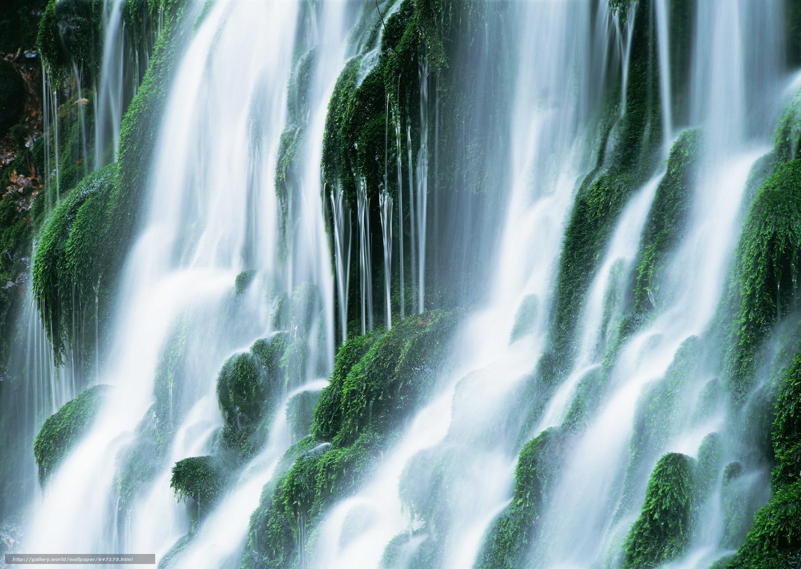 scaricare gli sfondi cascata,  cascate,  acqua,  FLOW Sfondi gratis per la risoluzione del desktop 2950x2094 — immagine №647175