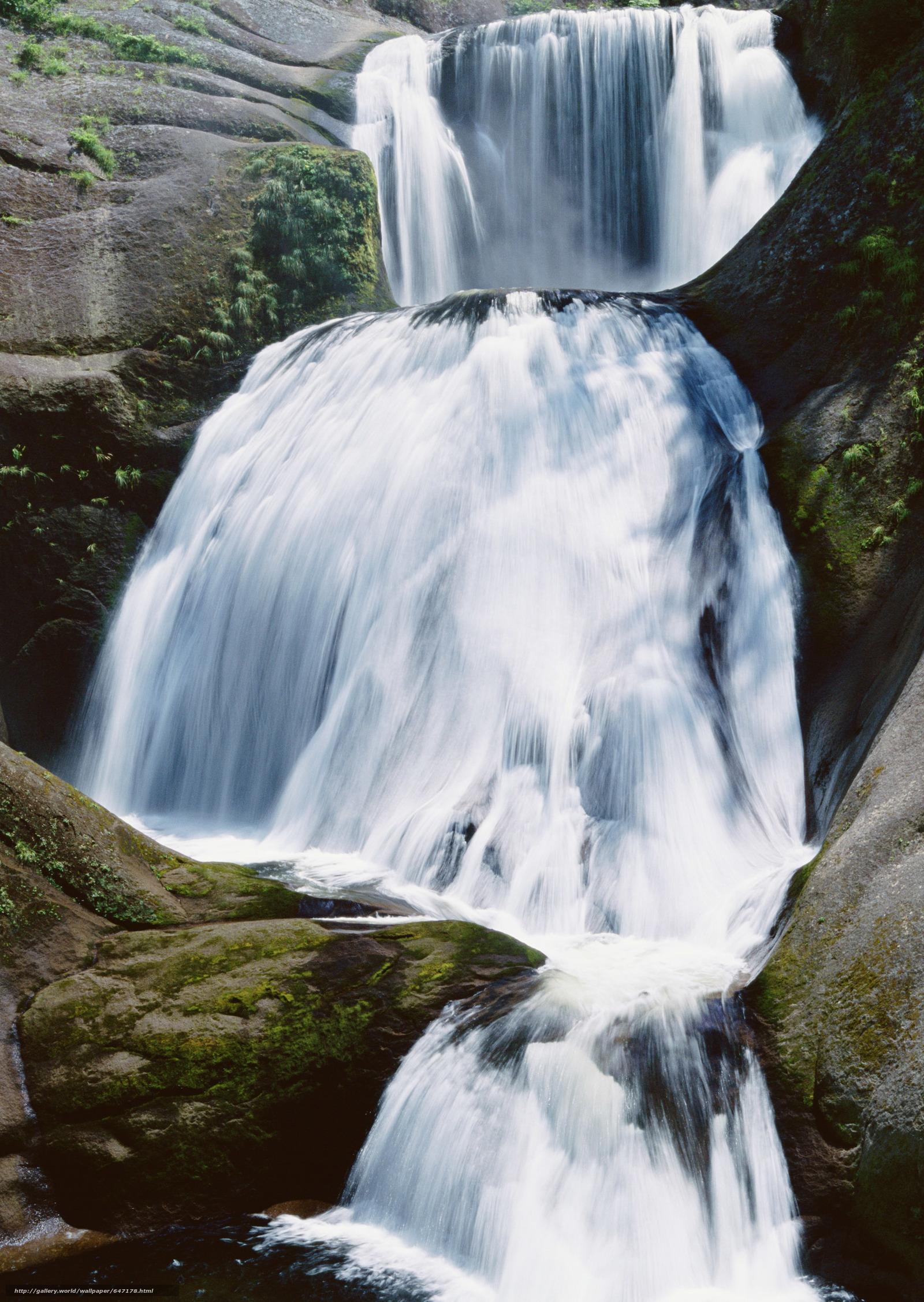 scaricare gli sfondi cascata,  cascate,  acqua,  FLOW Sfondi gratis per la risoluzione del desktop 2094x2950 — immagine №647178
