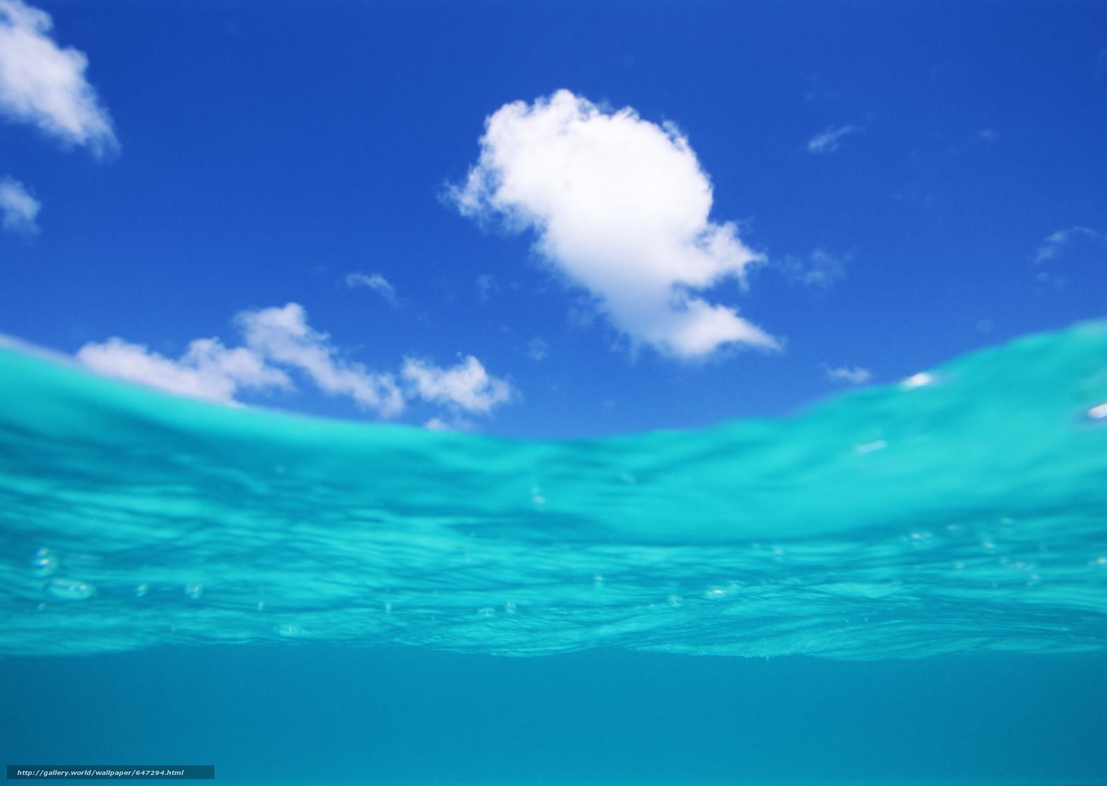 Скачать обои вода,  море,  океан,  природа бесплатно для рабочего стола в разрешении 2950x2094 — картинка №647294