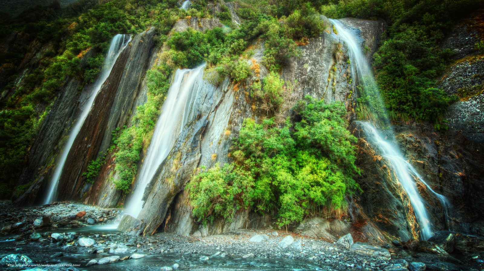 Download wallpaper waterfall,  waterfalls,  nature,  landscape free desktop wallpaper in the resolution 5196x2911 — picture №647486