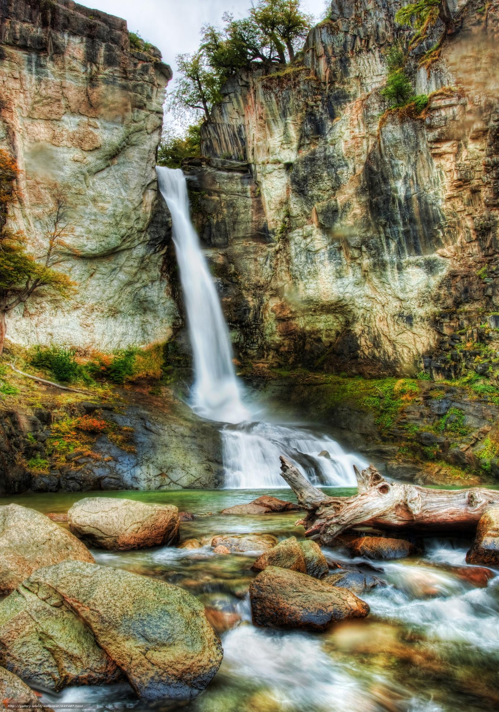 Скачать обои водопад,  водопады,  пейзаж,  природа бесплатно для рабочего стола в разрешении 3523x5027 — картинка №647487