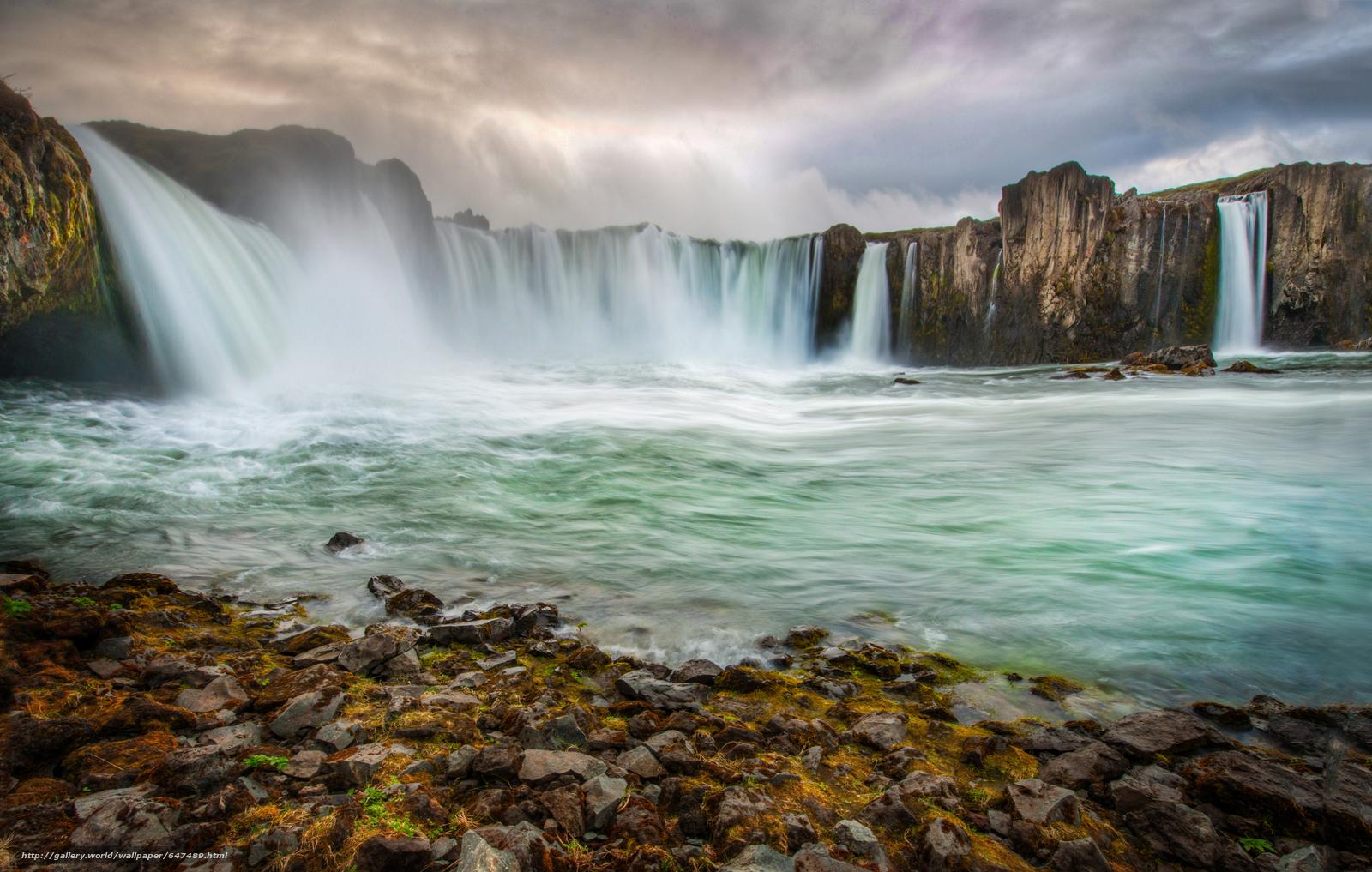 scaricare gli sfondi cascata,  fiume,  puntellare,  Rocce Sfondi gratis per la risoluzione del desktop 6248x3973 — immagine №647489