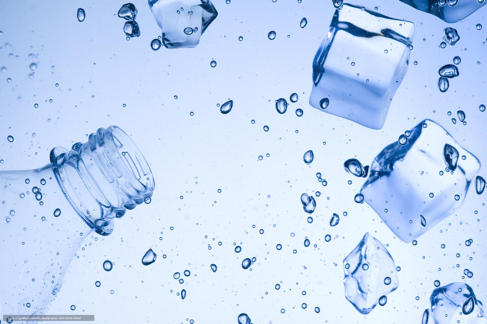 Скачать обои кубики льда,  жидкость,  пузыри бесплатно для рабочего стола в разрешении 8512x5664 — картинка №647669