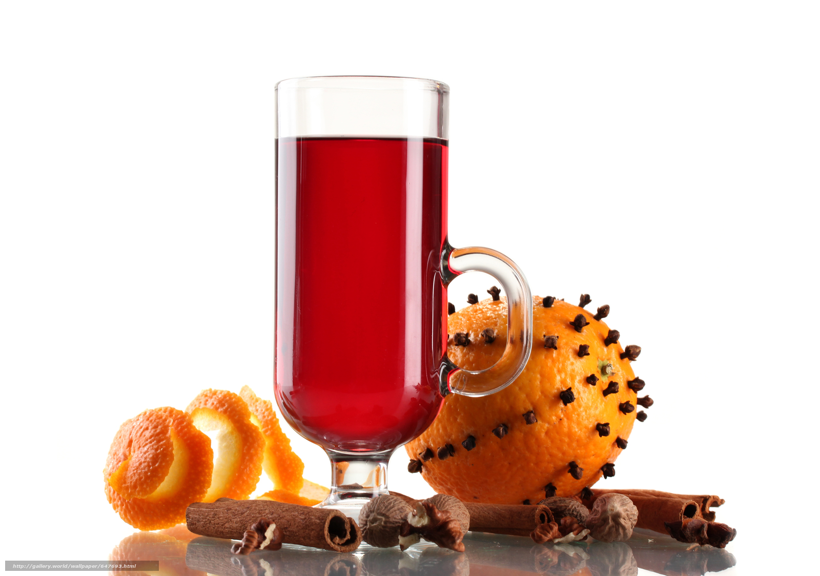 Download wallpaper Mulled Wine with Spices,  orange,  cocktail free desktop wallpaper in the resolution 4828x3392 — picture №647693