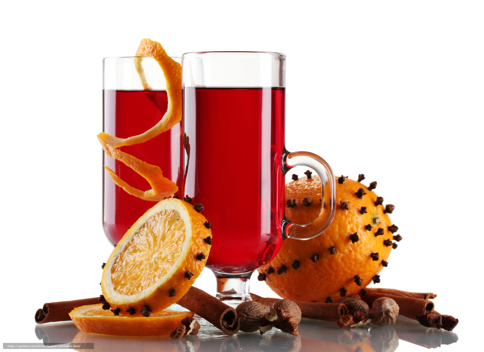 Download wallpaper Mulled Wine with Spices,  orange,  cocktail free desktop wallpaper in the resolution 4745x3456 — picture №647694