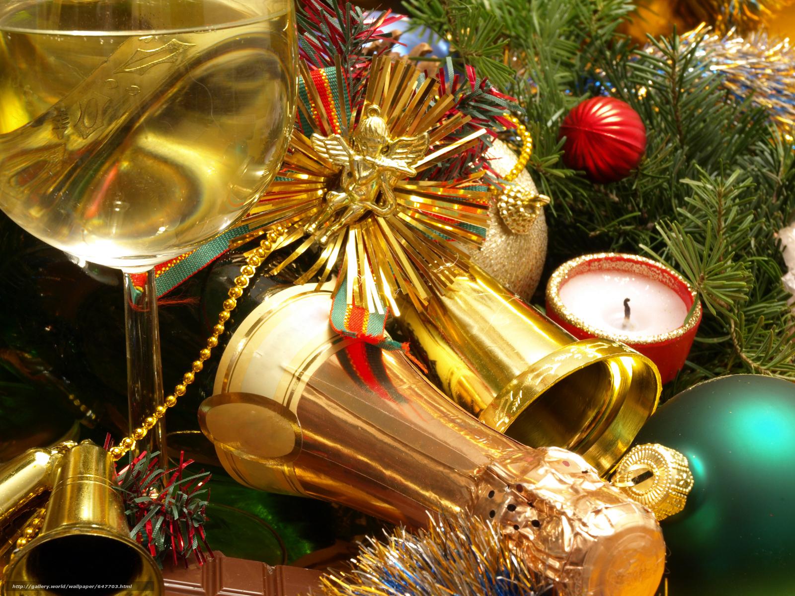 Descargar gratis La mesa de Año Nuevo,  Champán,  copas Fondos de escritorio en la resolucin 7296x5472 — imagen №647703