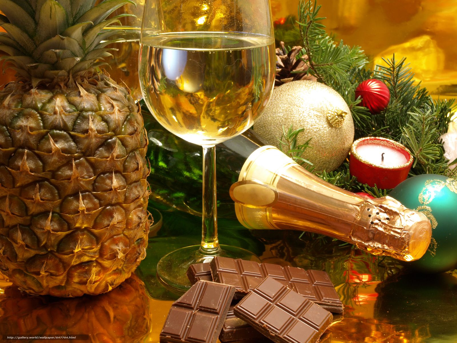 Download wallpaper New Year's table,  Champagne,  stemware free desktop wallpaper in the resolution 7296x5472 — picture №647704