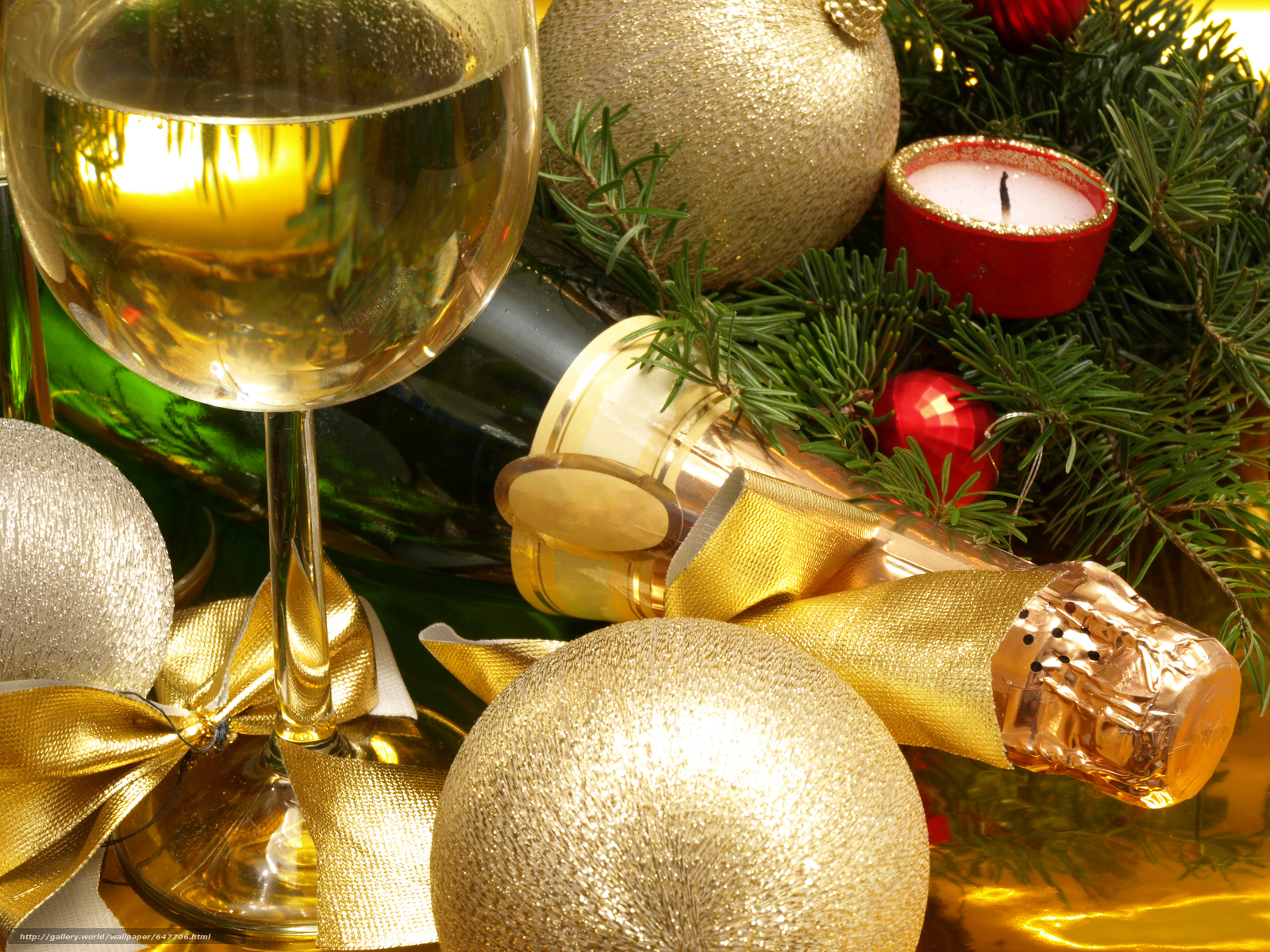 Download wallpaper New Year's table,  Champagne,  stemware free desktop wallpaper in the resolution 7296x5472 — picture №647706