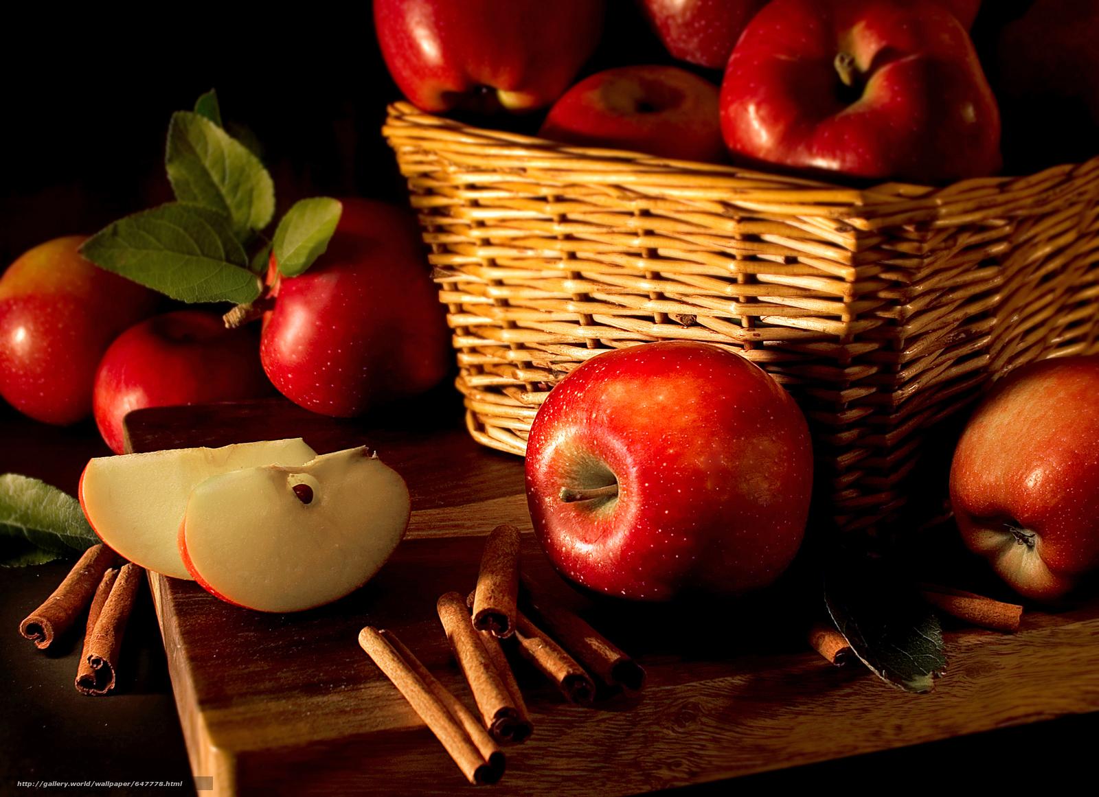 Скачать обои яблоки,  фрукты,  еда бесплатно для рабочего стола в разрешении 5436x3944 — картинка №647778
