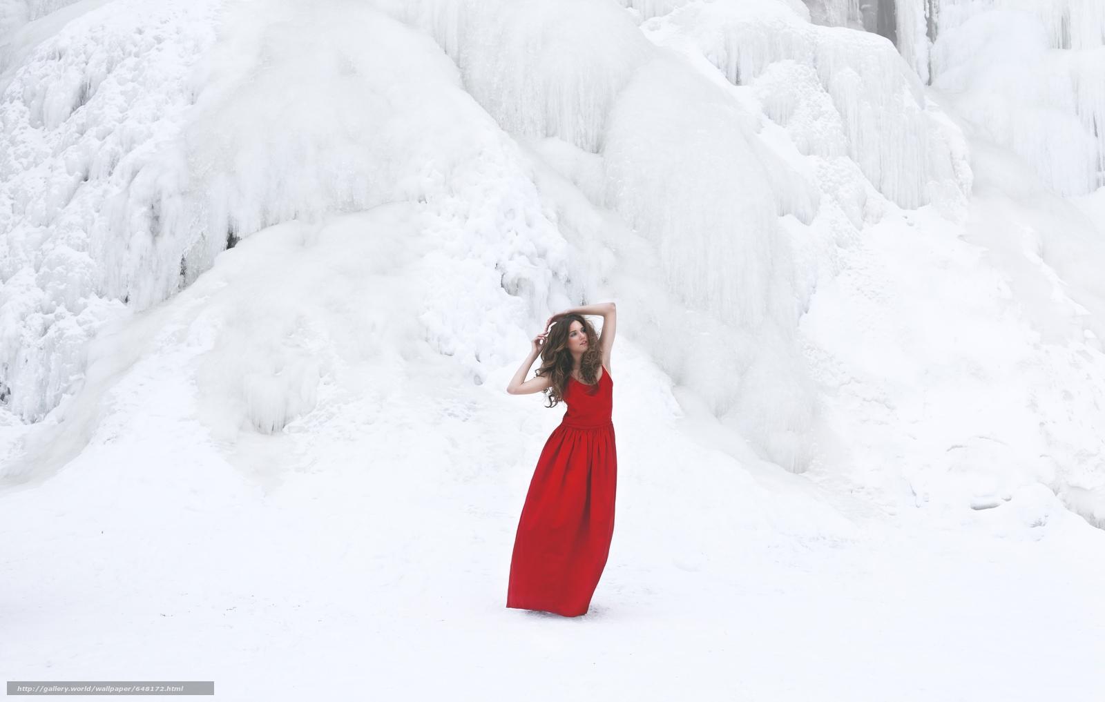 scaricare gli sfondi ragazza,  posa,  Red Dress,  vestire Sfondi gratis per la risoluzione del desktop 5616x3569 — immagine №648172