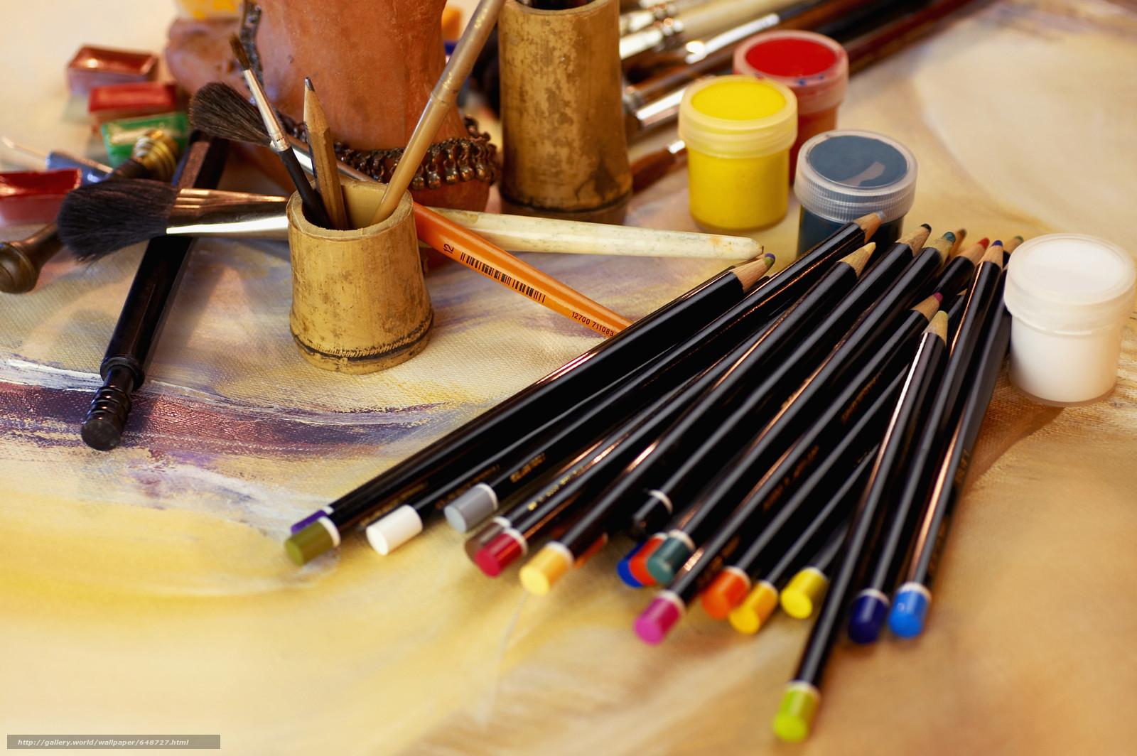scaricare gli sfondi Cartoleria,  per gli artisti,  vernici,  COLORE Sfondi gratis per la risoluzione del desktop 5475x3640 — immagine №648727