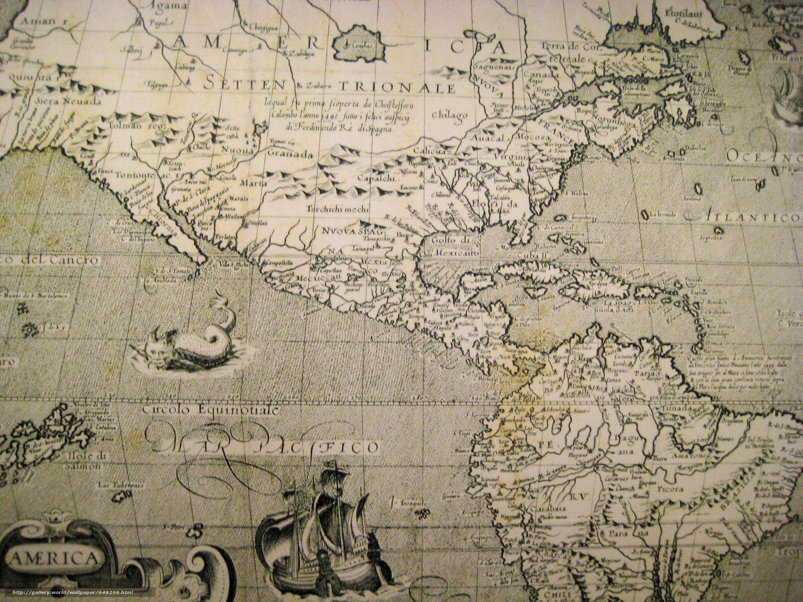 Скачать обои Старые карты,  навигации,  Составленные в далекие времена,  пропитанные солеными ветрами морей и океанов бесплатно для рабочего стола в разрешении 3072x2304 — картинка №649299