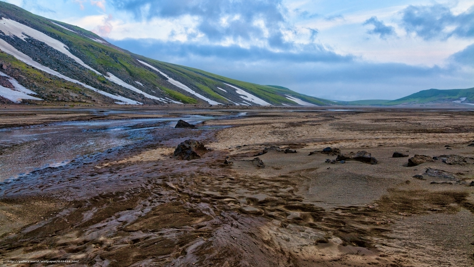 Download wallpaper Kamchatka,  Russia,  Mountains,  SPRING free desktop wallpaper in the resolution 5616x3159 — picture №649499