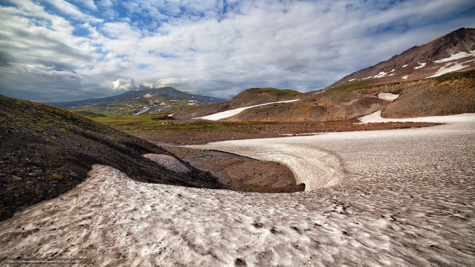 Download wallpaper Kamchatka,  Russia,  Mountains,  sky free desktop wallpaper in the resolution 5616x3159 — picture №649504
