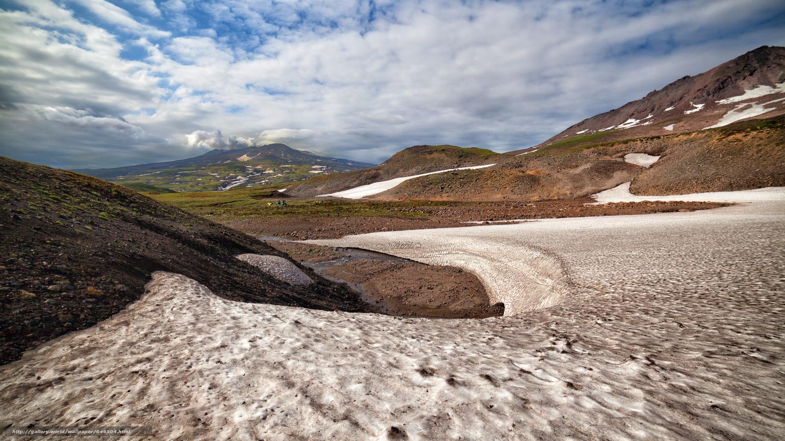 Скачать обои Камчатка,  Россия,  горы,  небо бесплатно для рабочего стола в разрешении 5616x3159 — картинка №649504