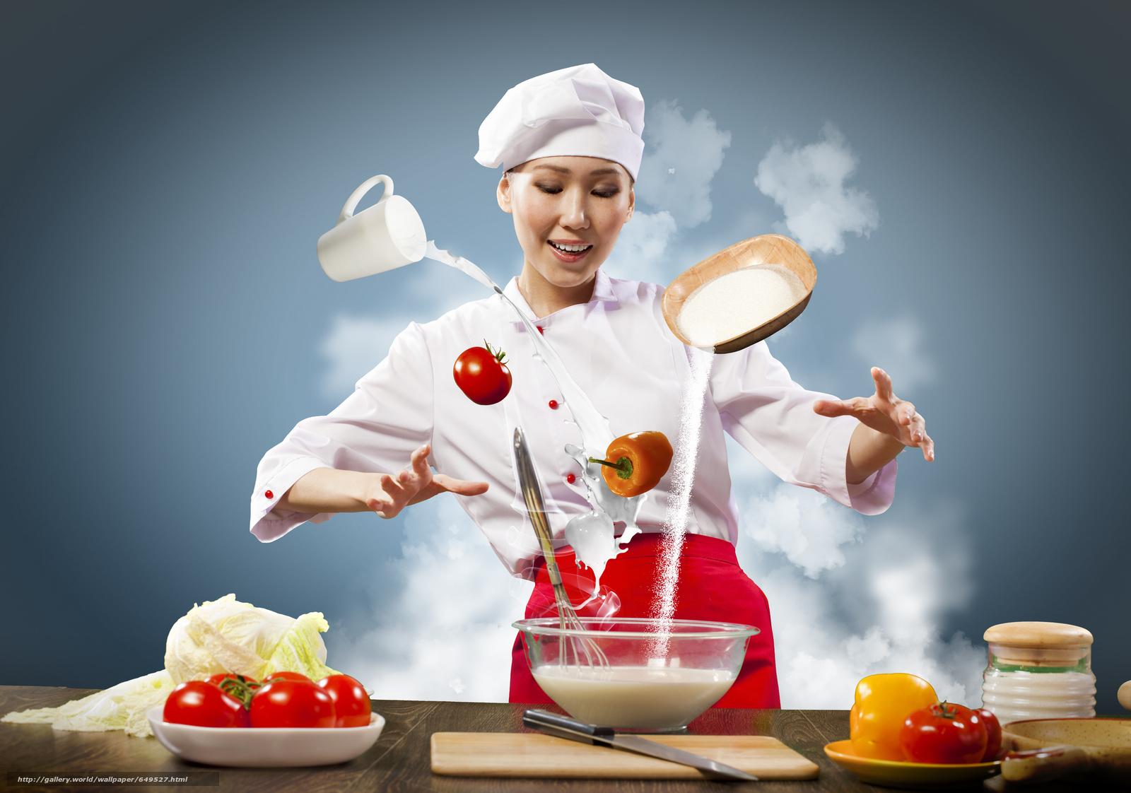 scaricare gli sfondi ragazza,  Asian,  cucinare,  cucina Sfondi gratis per la risoluzione del desktop 3800x2664 — immagine №649527