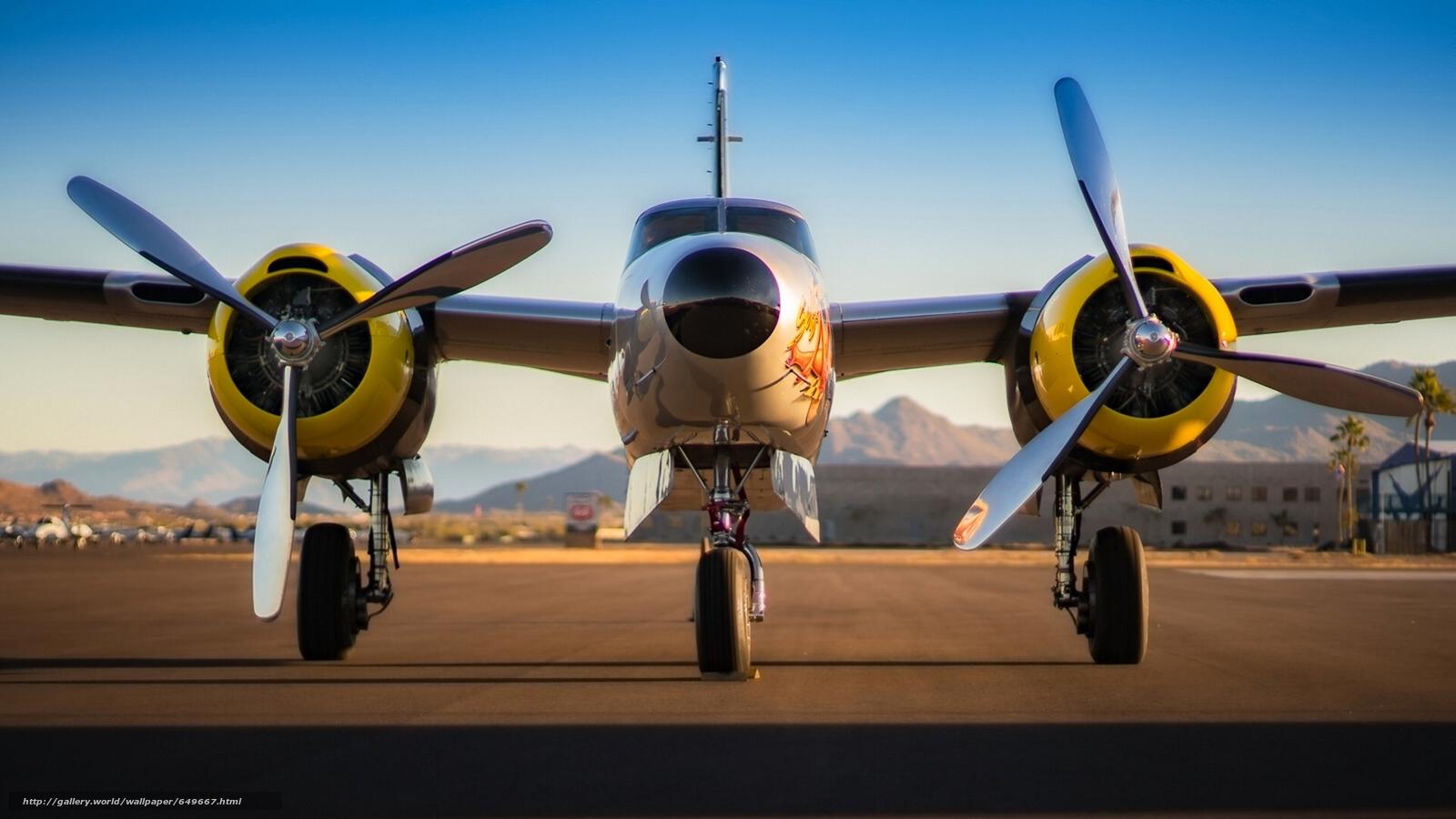 pobra tapety Douglas A-26 Invader,  bombowiec,  samolot Darmowe tapety na pulpit rozdzielczoci 1920x1080 — zdjcie №649667