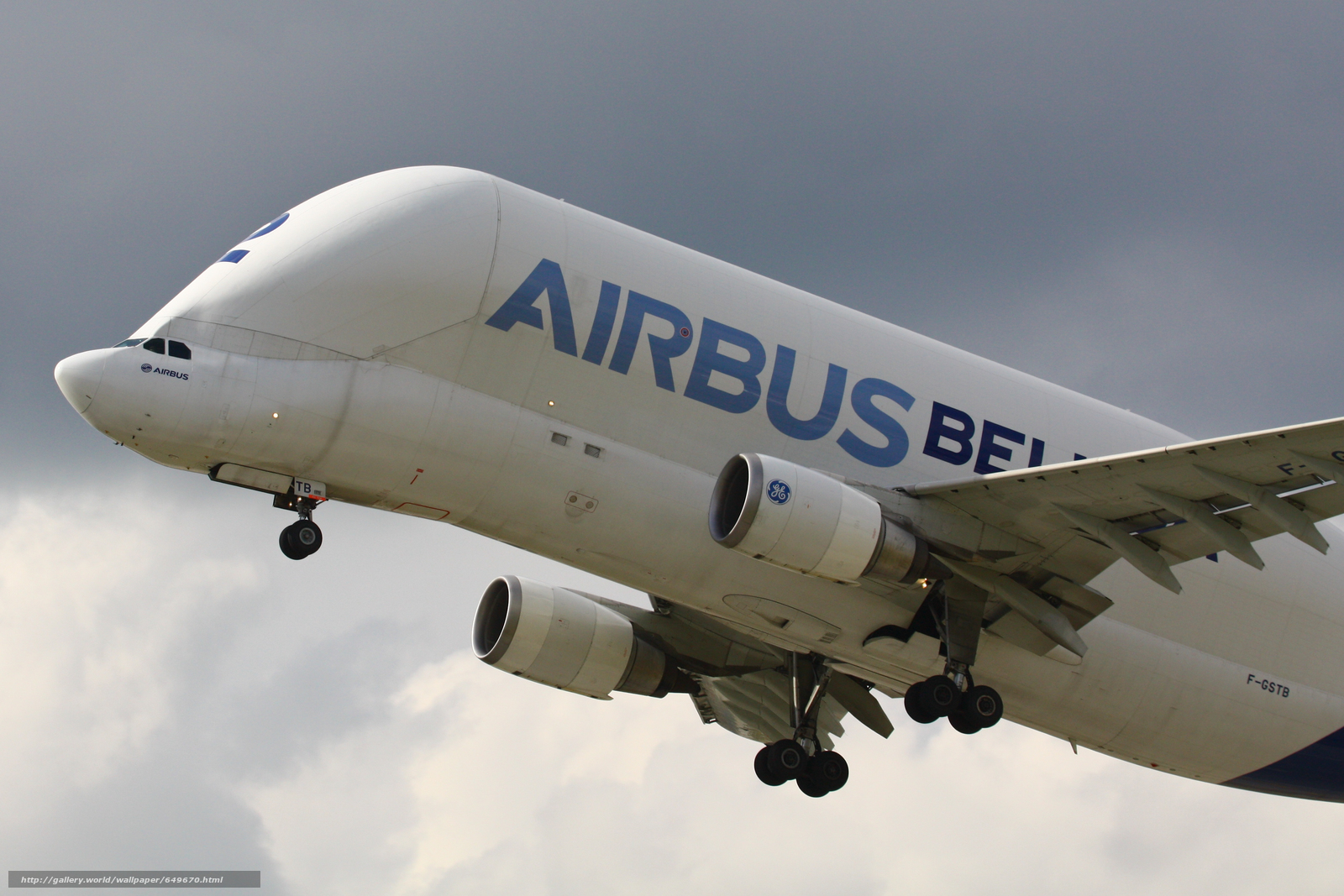 Download wallpaper Airbus A-300-605ST Beluga,  Airbus Beluga,  plane free desktop wallpaper in the resolution 3640x2427 — picture №649670